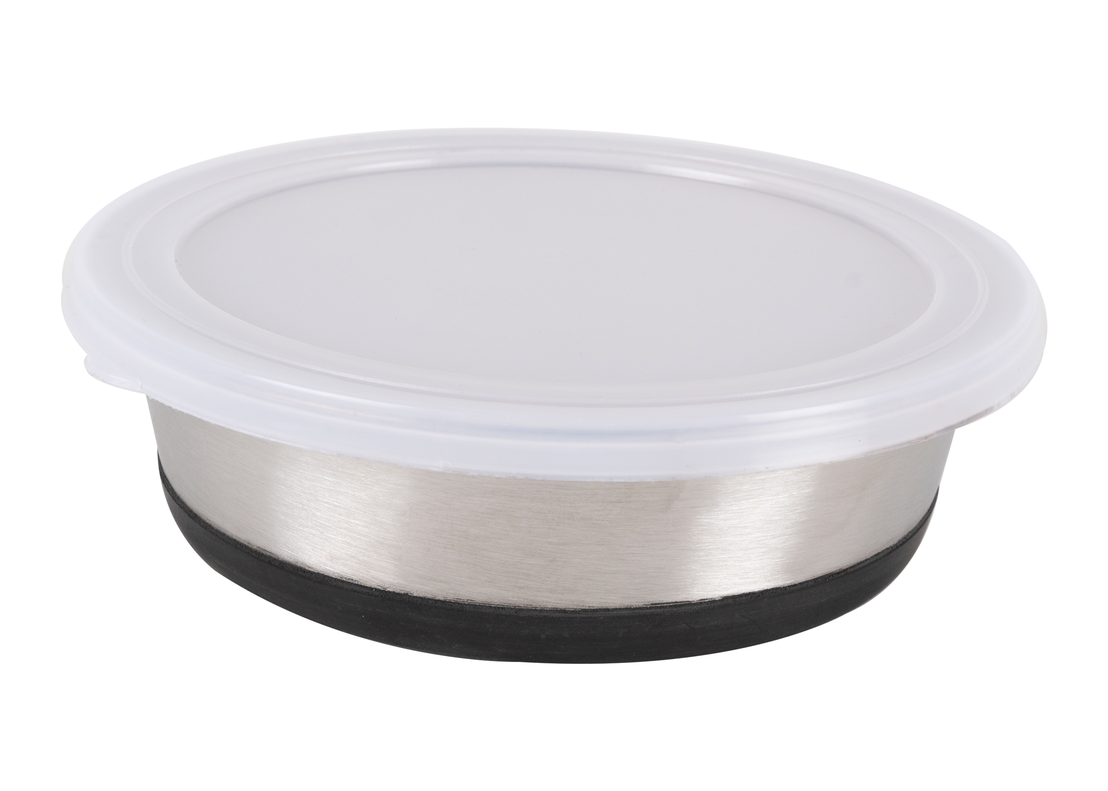 Show Tech Stainless Steel anti slip Bowl with Lid 473 ml