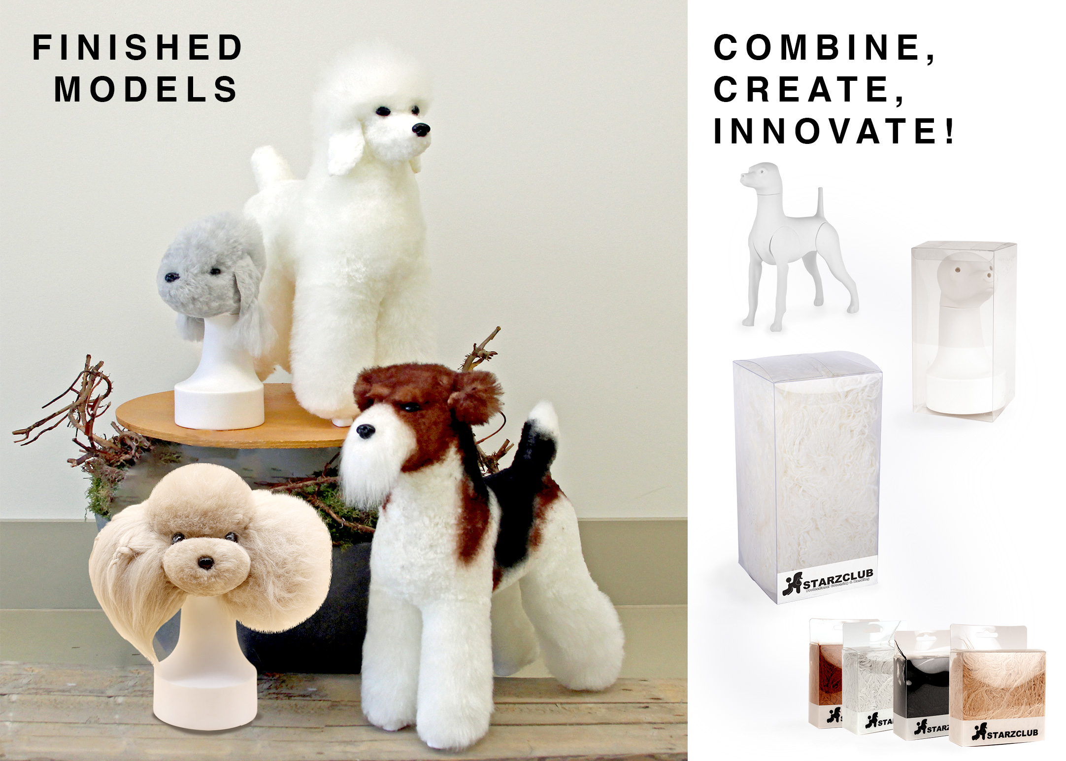 Starzclub Magnetic Model Dog Poodle (hair is sold separately)