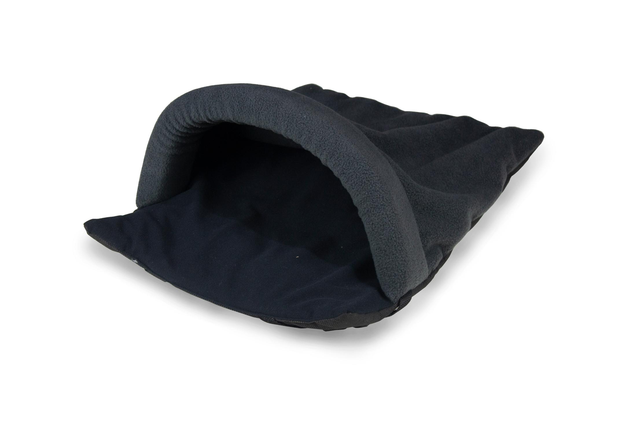 Hi-K9 Snuggle Tunnel Black-Grey Bed