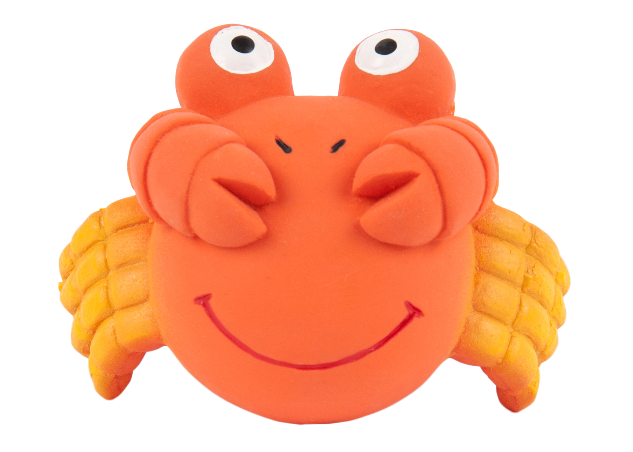 Chuckle City Squeaky Latex Crab 8cm Orange Toys