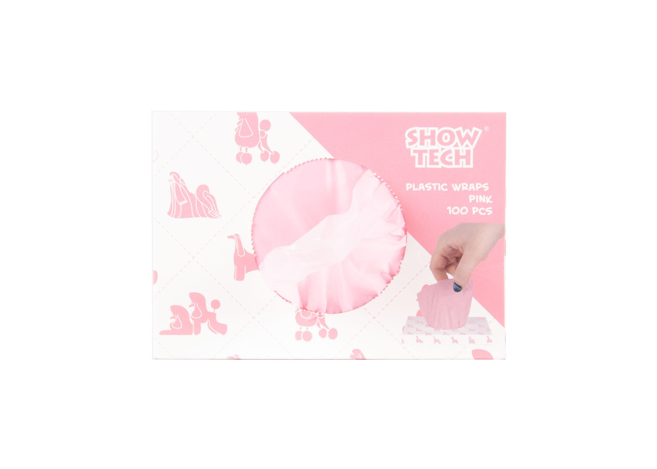 Show Tech Plastic Wraps Pink (15x30cm)-100 pcs Wraps