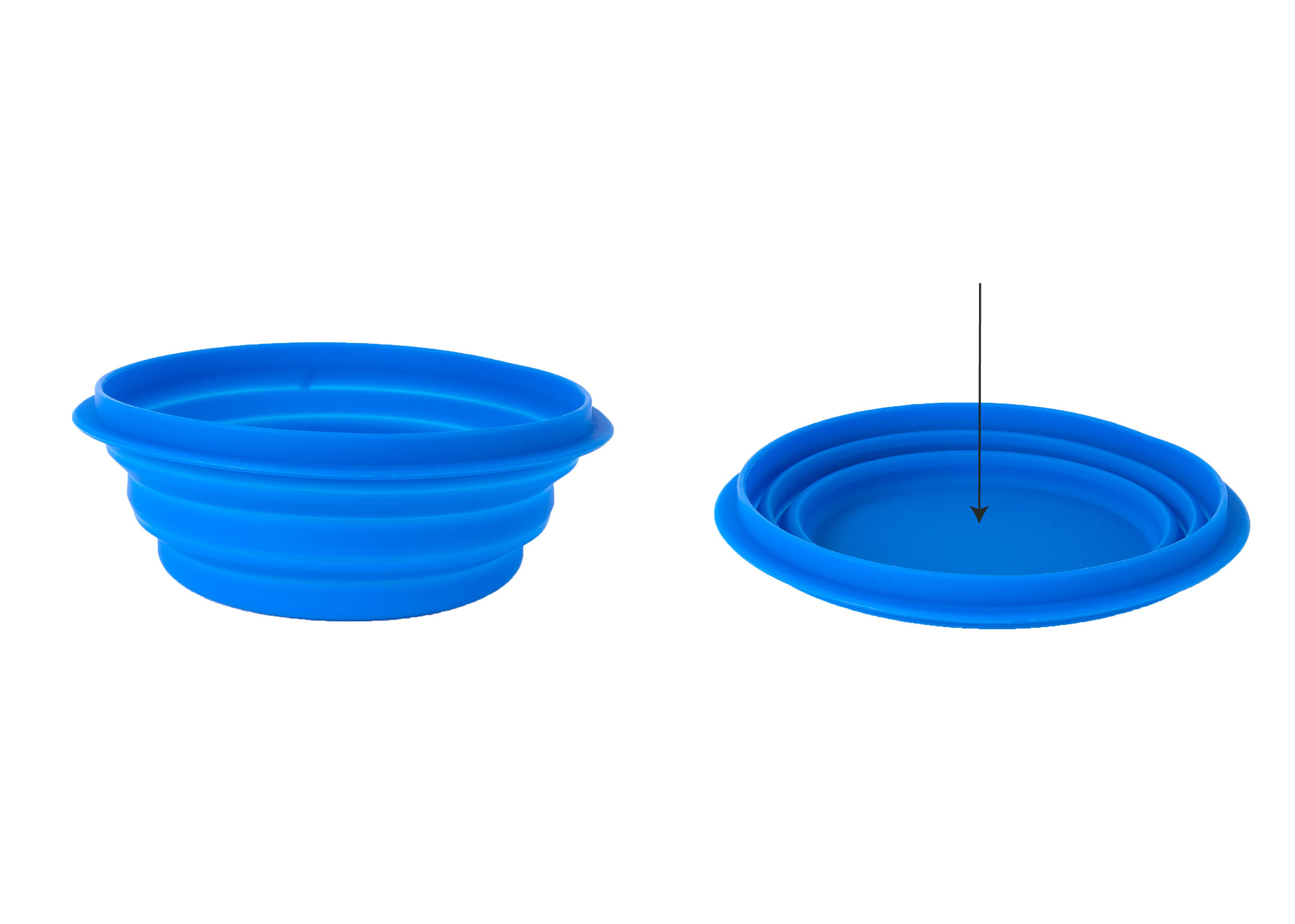Travel Pop-up Silicone Pet Bowl 1L Blauw Drinkpot