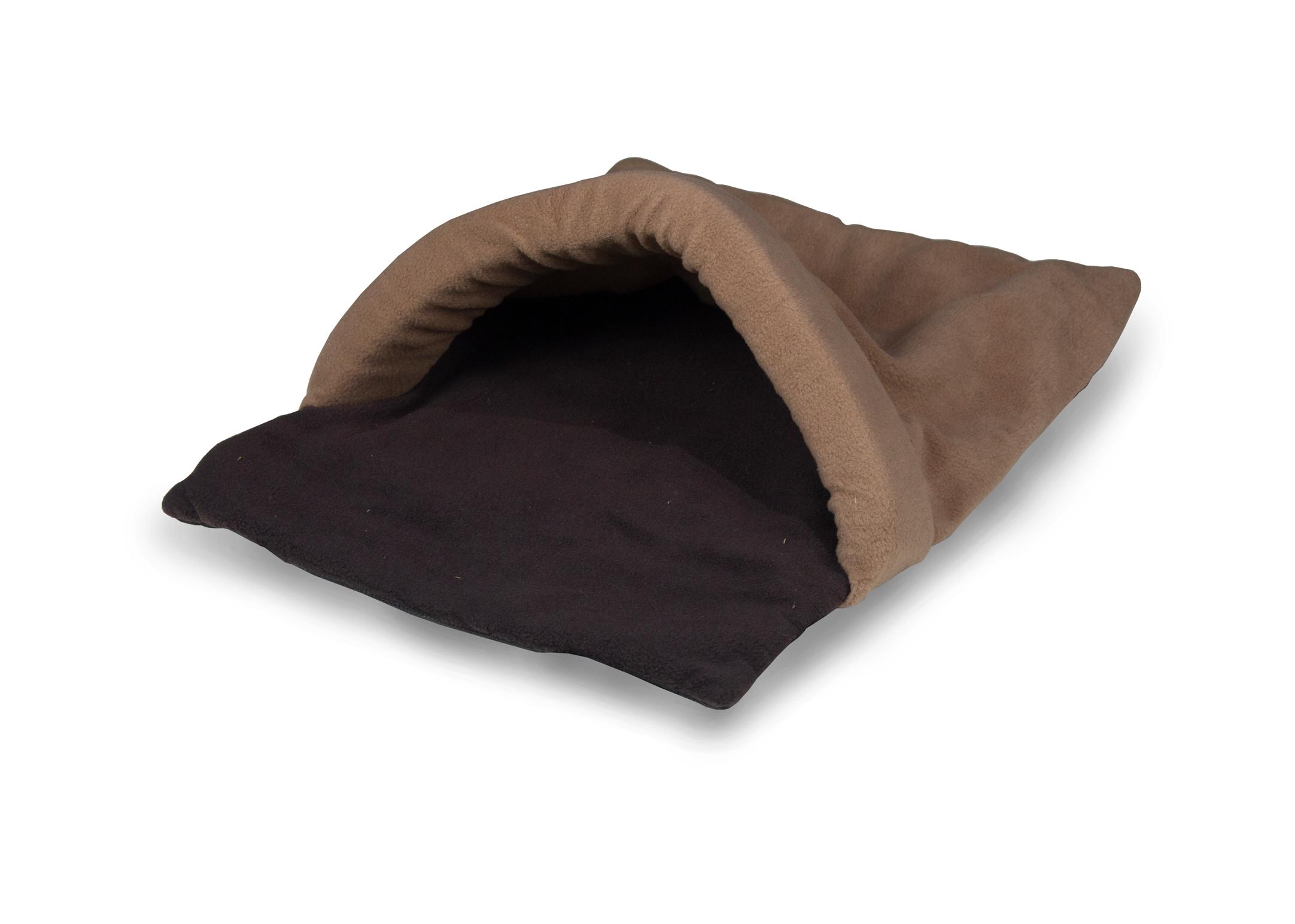 Hi-K9 Snuggle Tunnel Chocolate-Tan Bed
