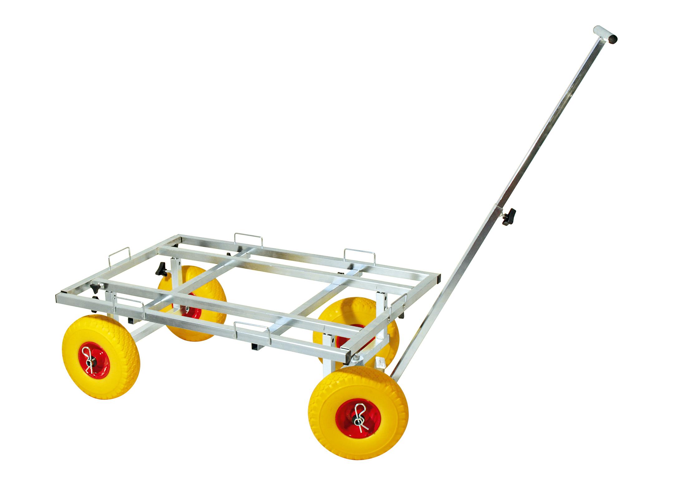 Explorer Adjustable Crate Trolley Cage Transporter min. 91X63cm - max 135X73cm