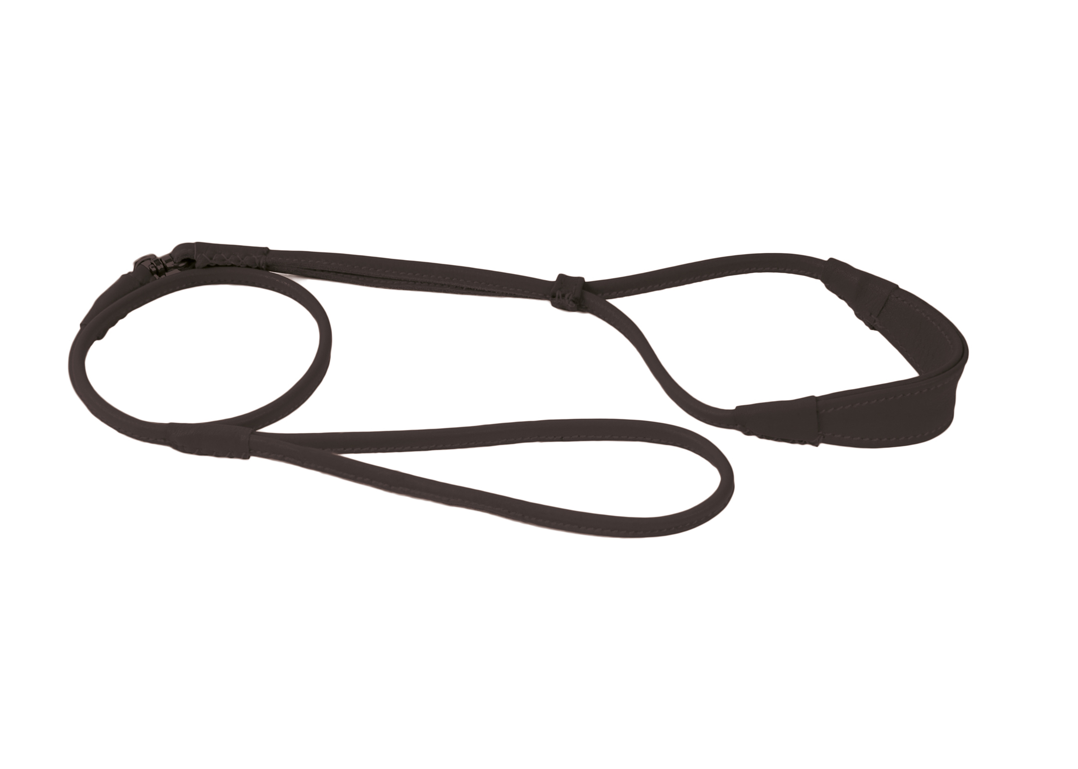 Dapper Dogs Comfort Show Lead Round Cow Leather S 5mm Black Leather Comfort Lead
