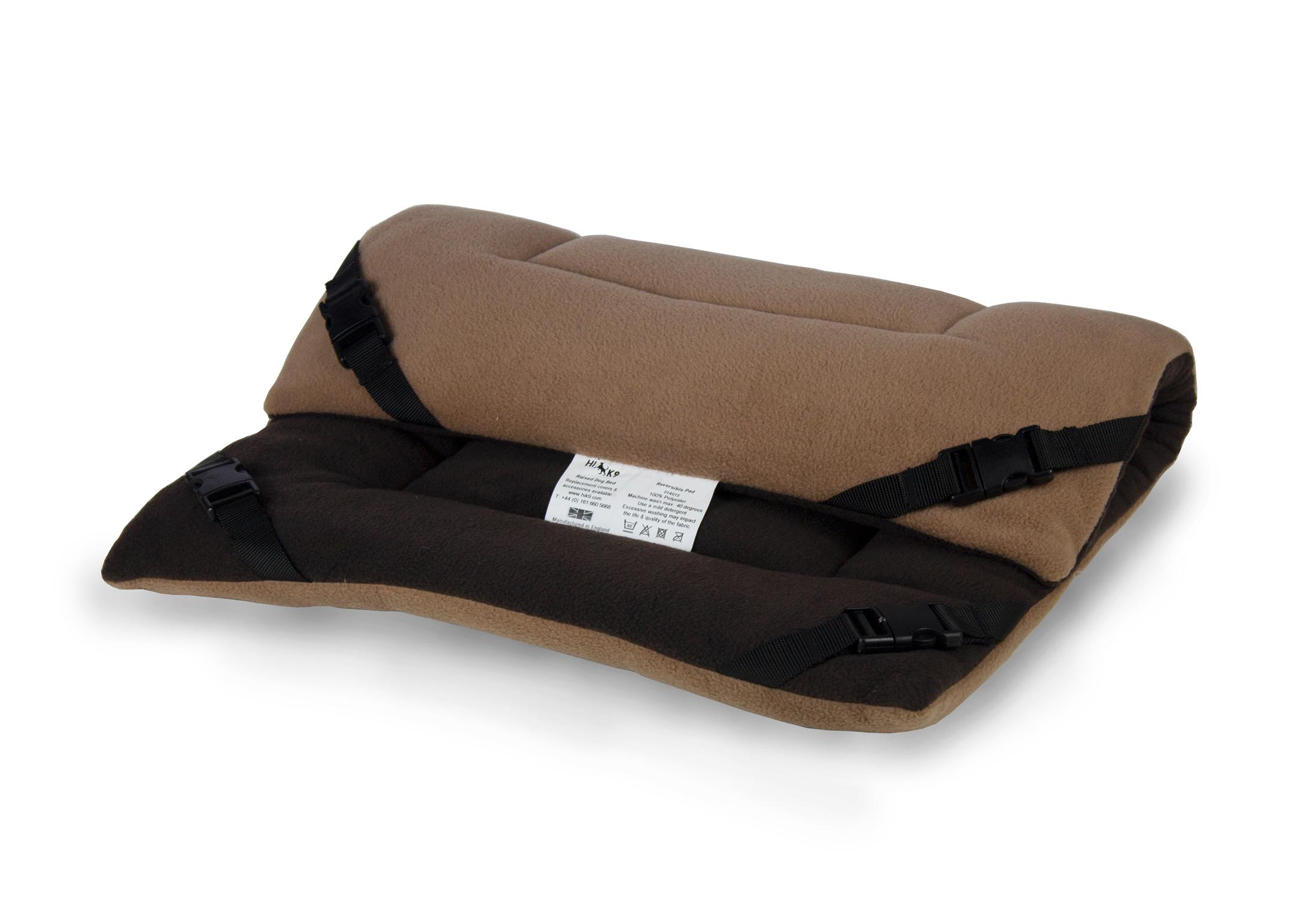 Hi-K9 Reversible Pad Chocolate-Tan Bed
