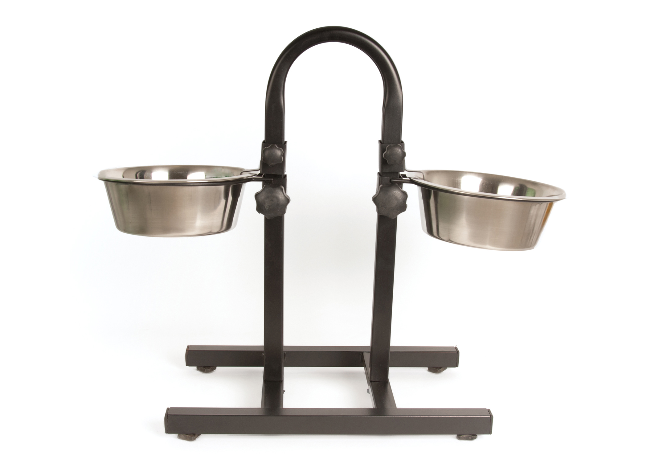 Show Tech U-Bar Adjustable Bowl Stand with Bowls