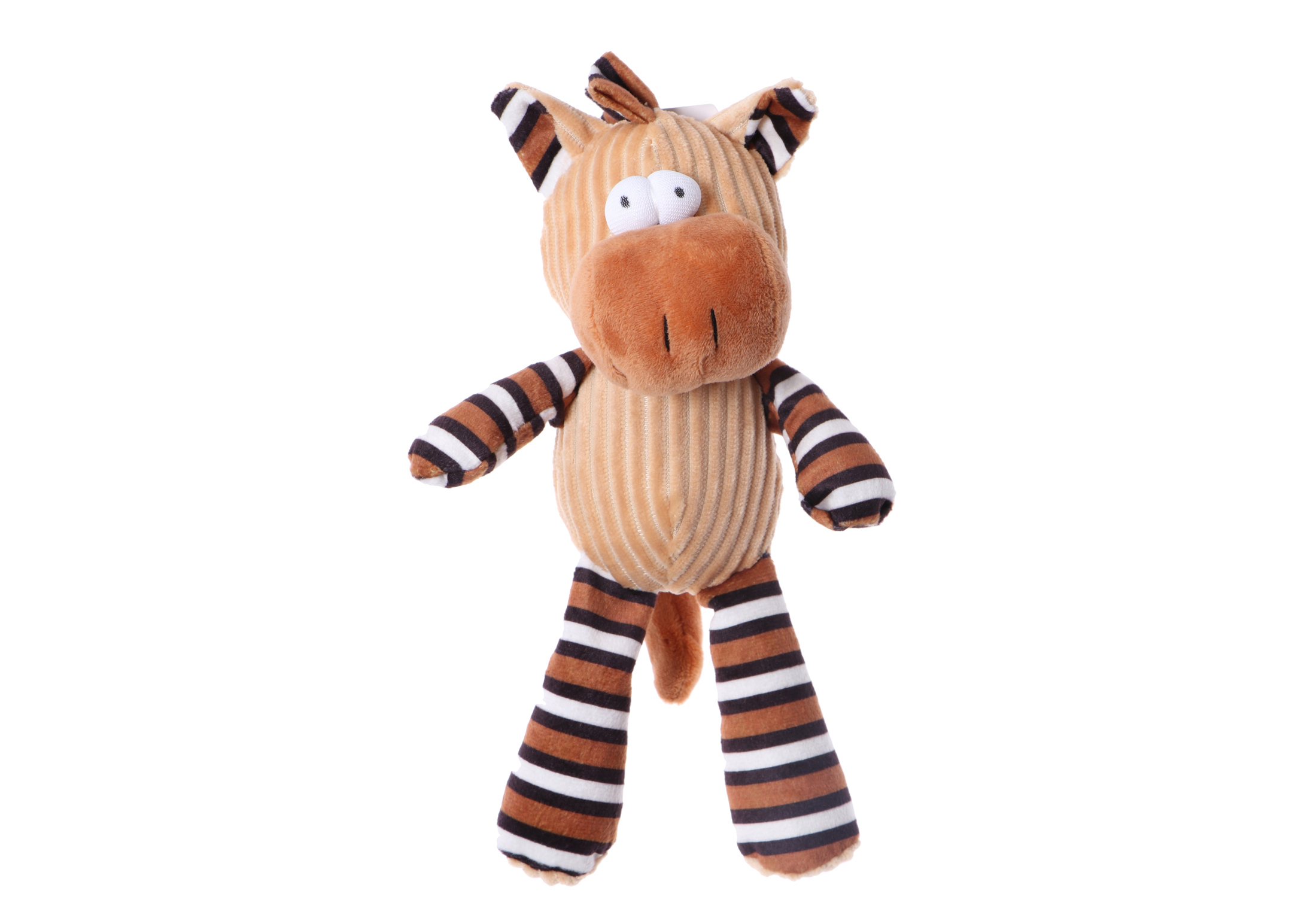 Chuckle City Plush Toy with Squeaker Horse 25 cm