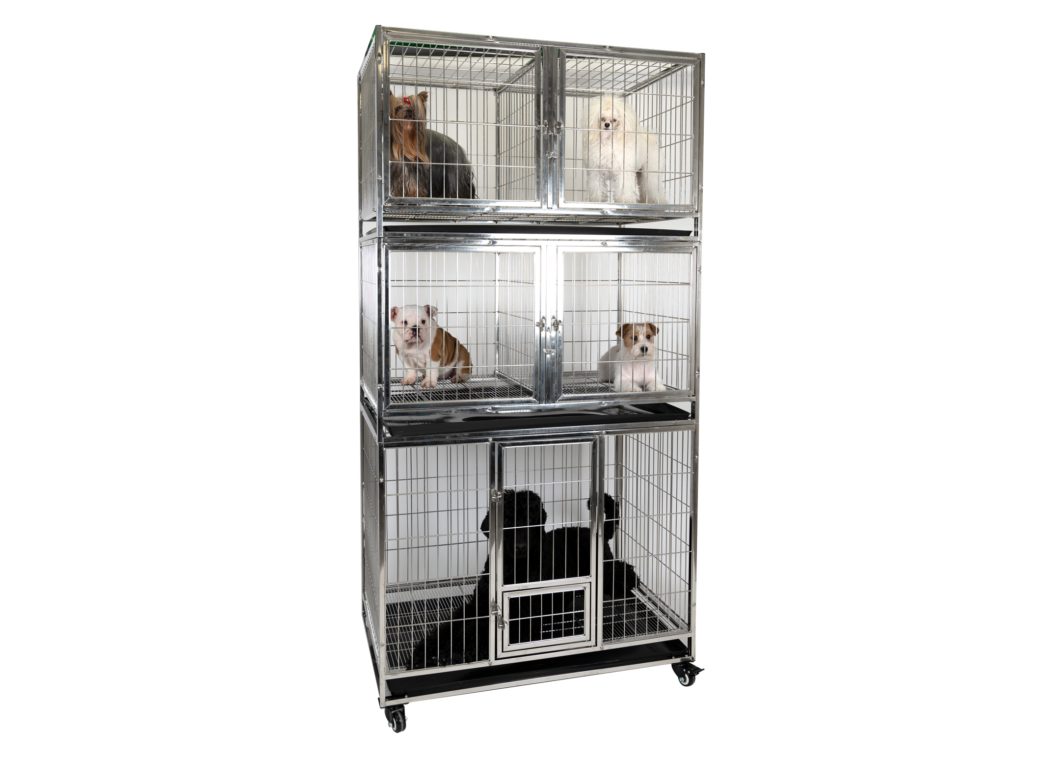 Groom-X Waiting Kennel Stainless XL 110x72x86cm