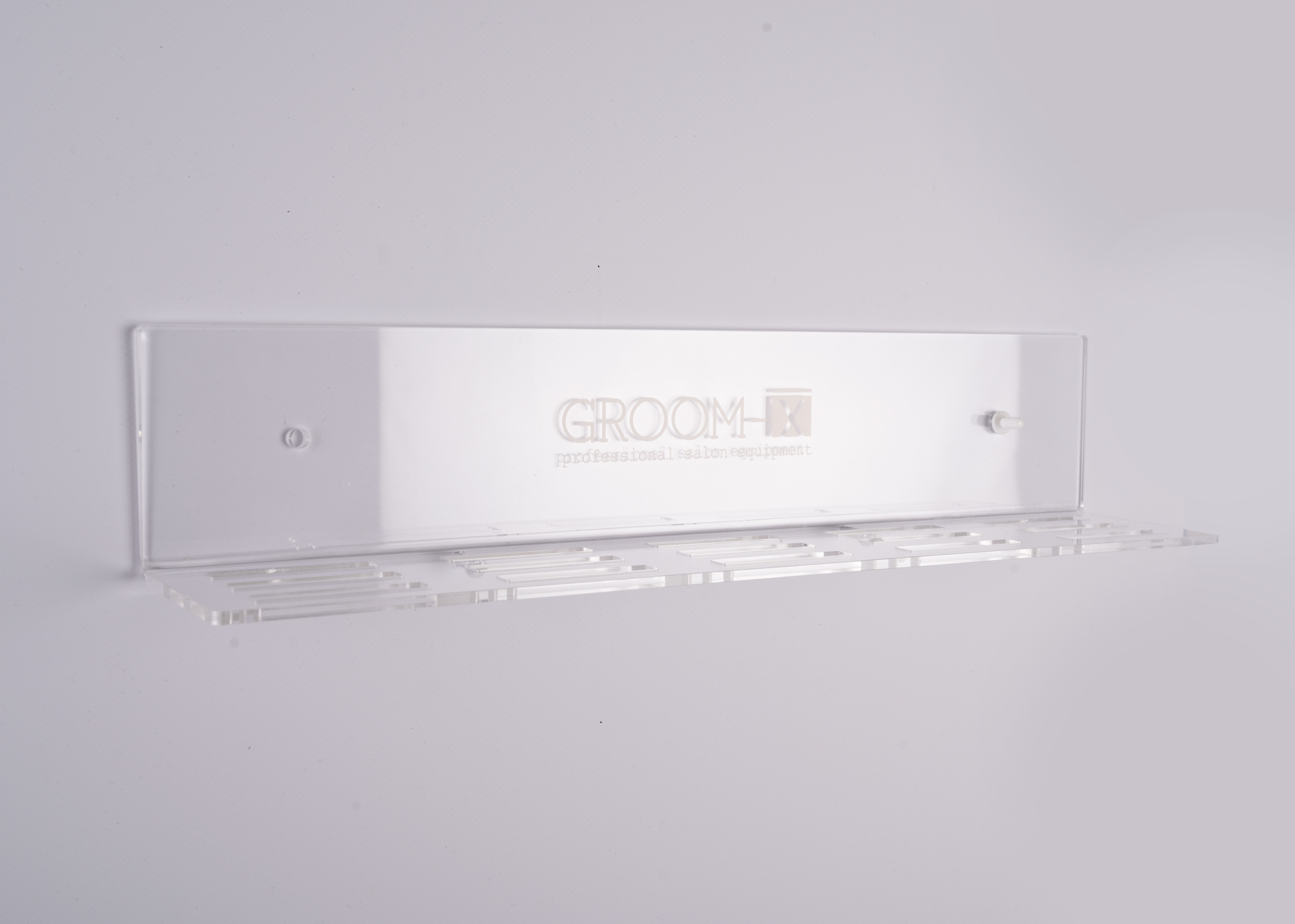 Groom-X Wall Mounted Plexi Blade Holder for 15 Blades