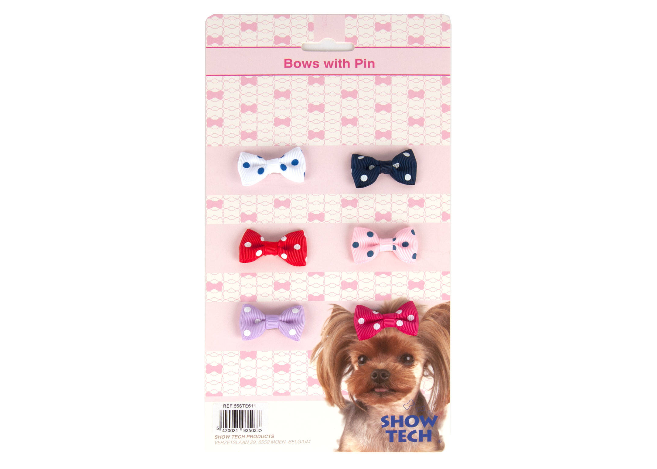 Show Tech Polka Dot Bows with clip 6 pcs Bows