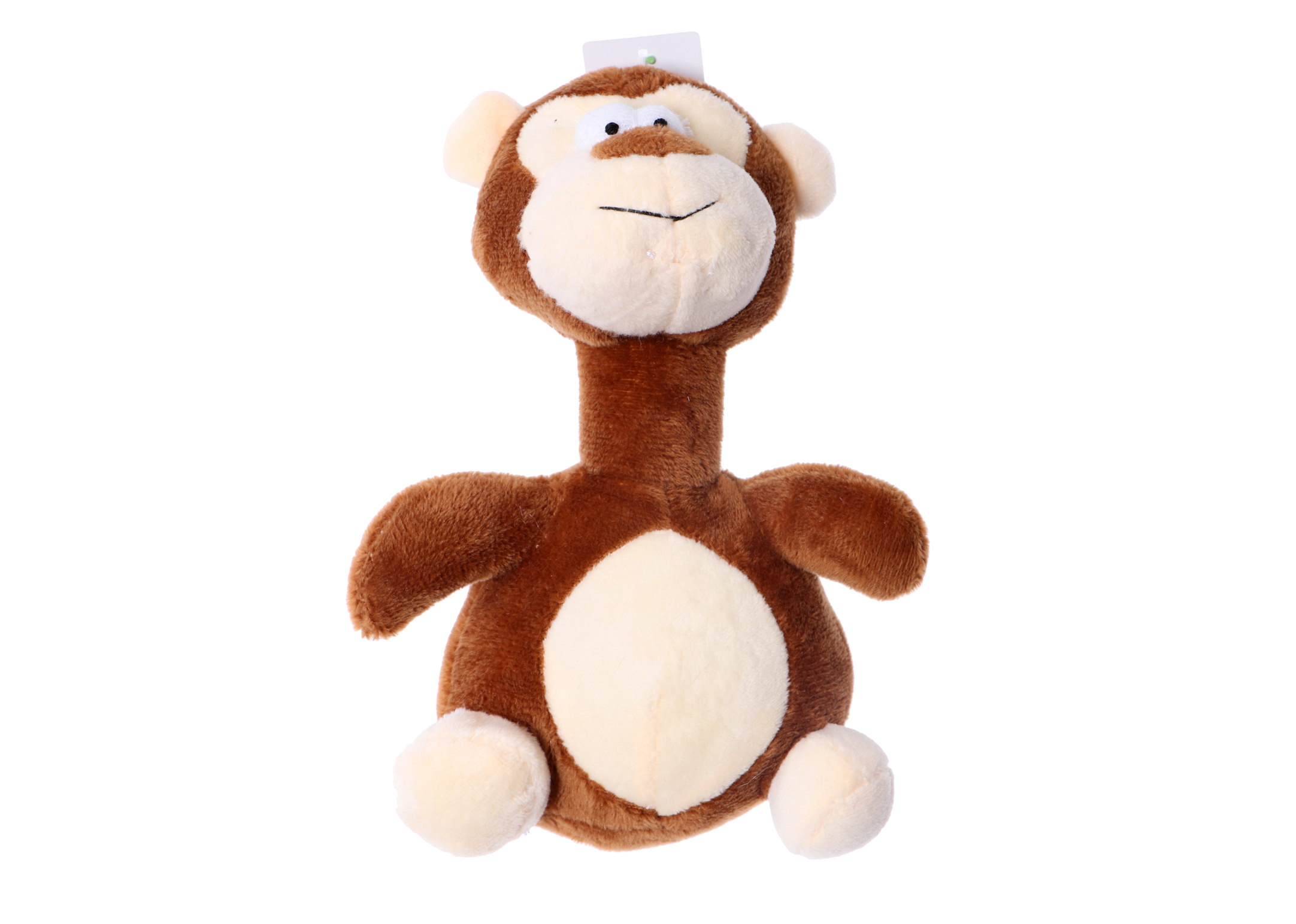 Chuckle City Plush Toy with Squeaker Monkey 20 cm