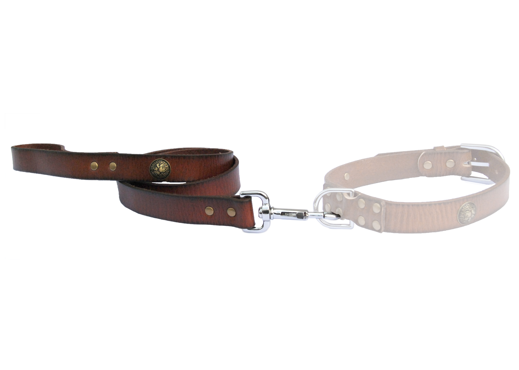 Dapper Dogs Bahia Brown Leather Lead For Dogs