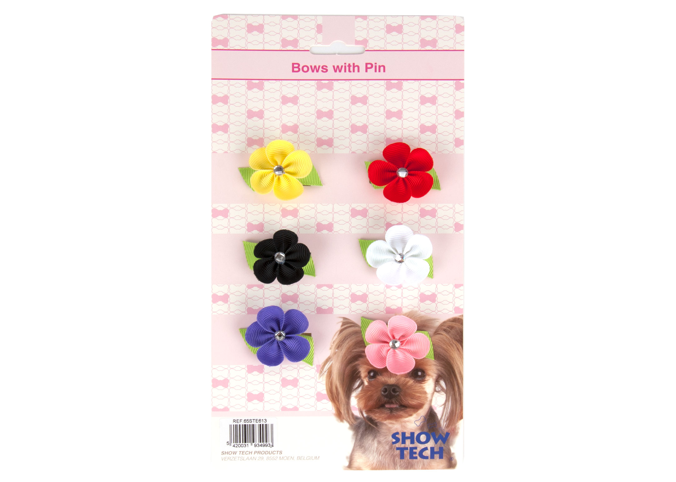Show Tech Daisy Bows with clip 6 pcs Bows