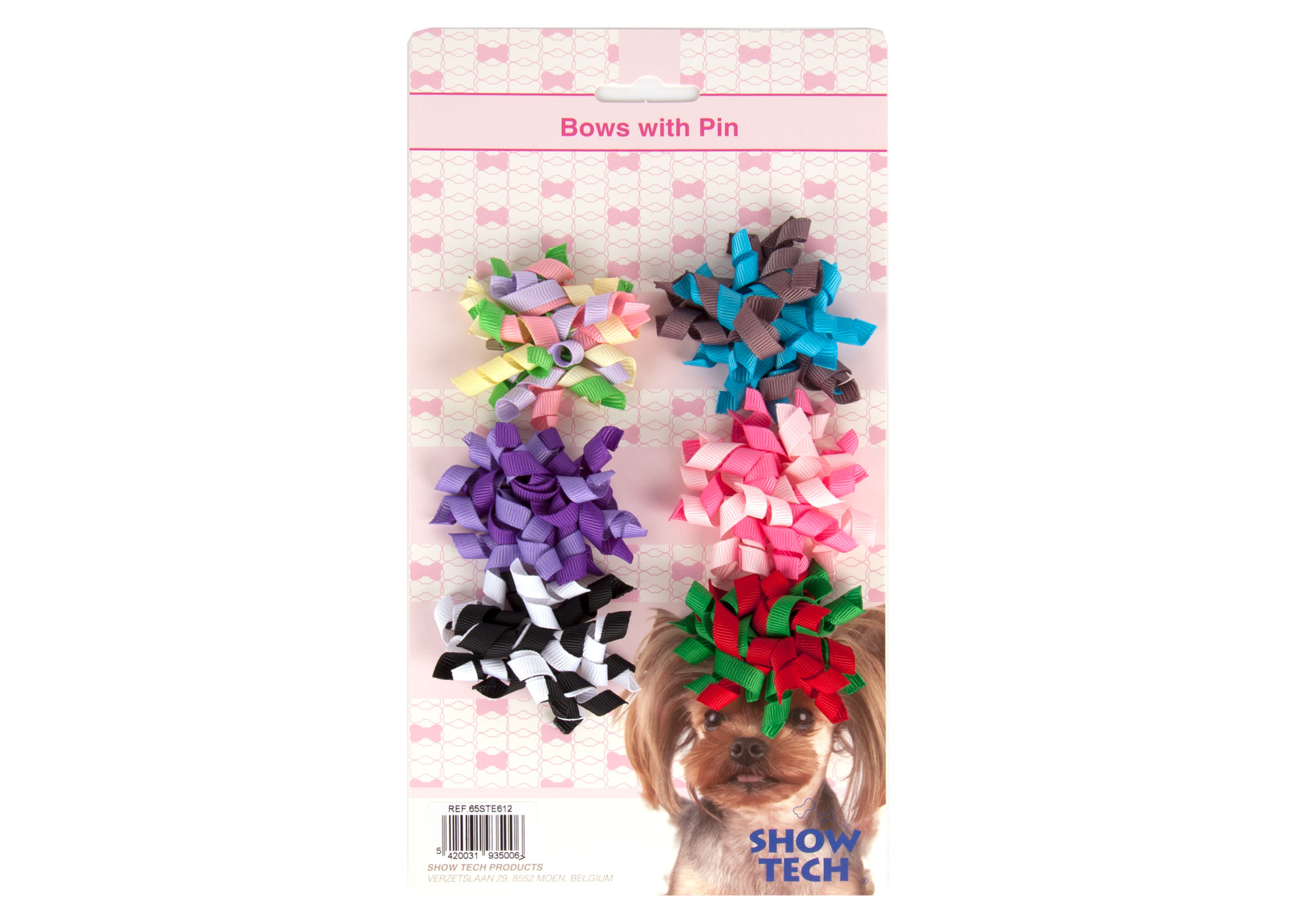 Show Tech Curly Bows with clip 6 pcs Bows