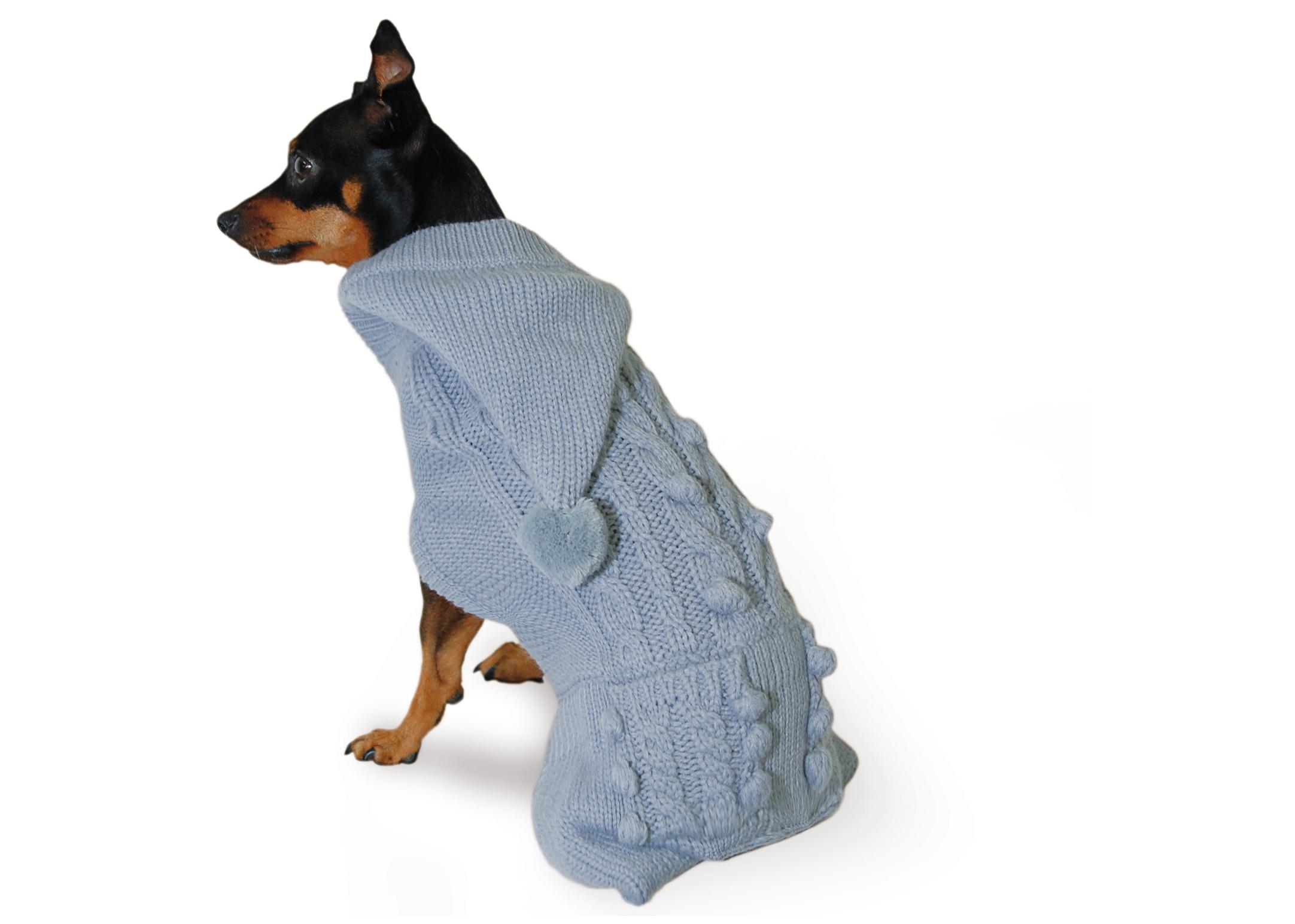 Max+Co Pom-Pom Grey Attire For Dogs