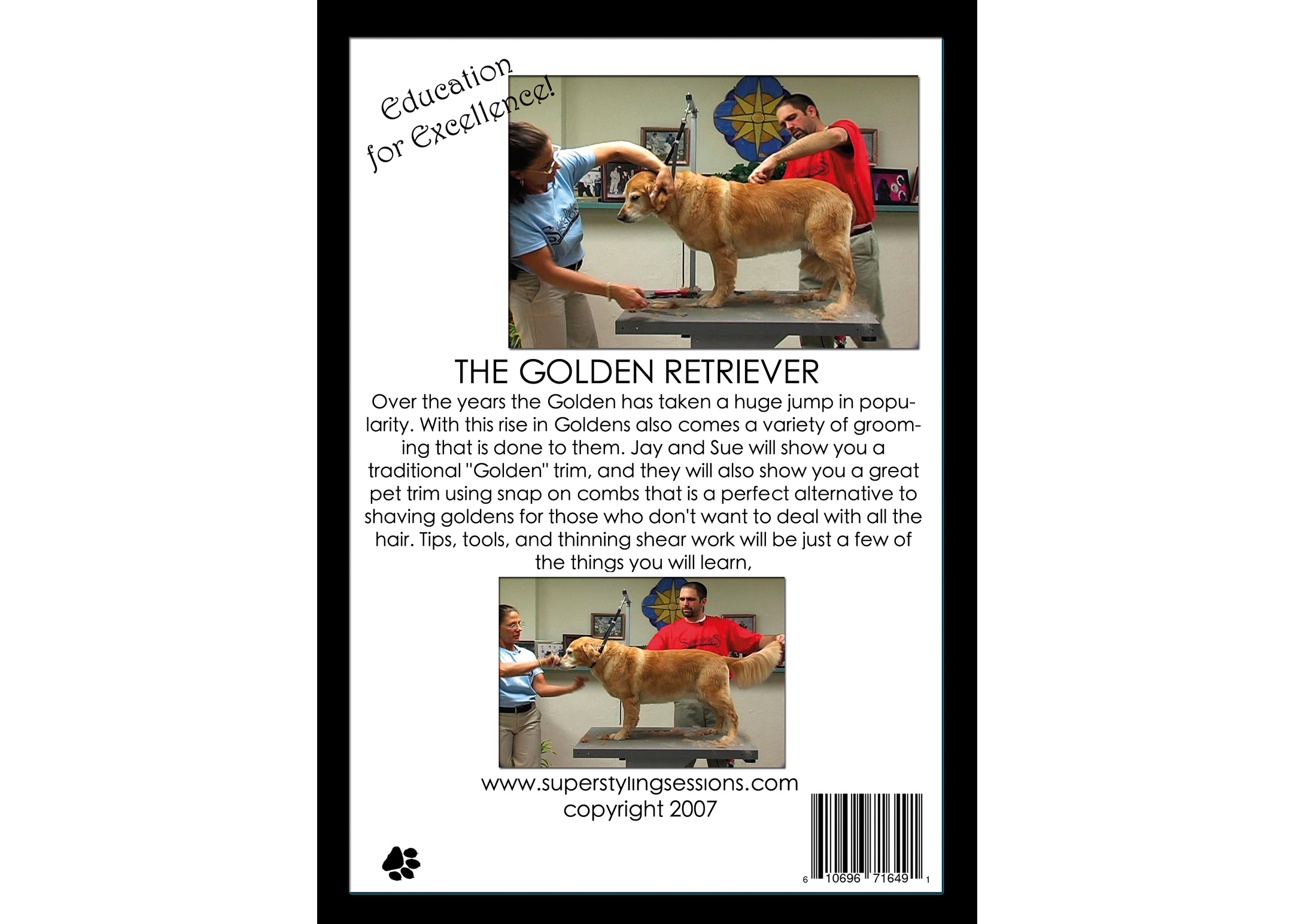 Super Styling Sessions DVD Super Styling Sessions Golden Retriever DVD éducatif