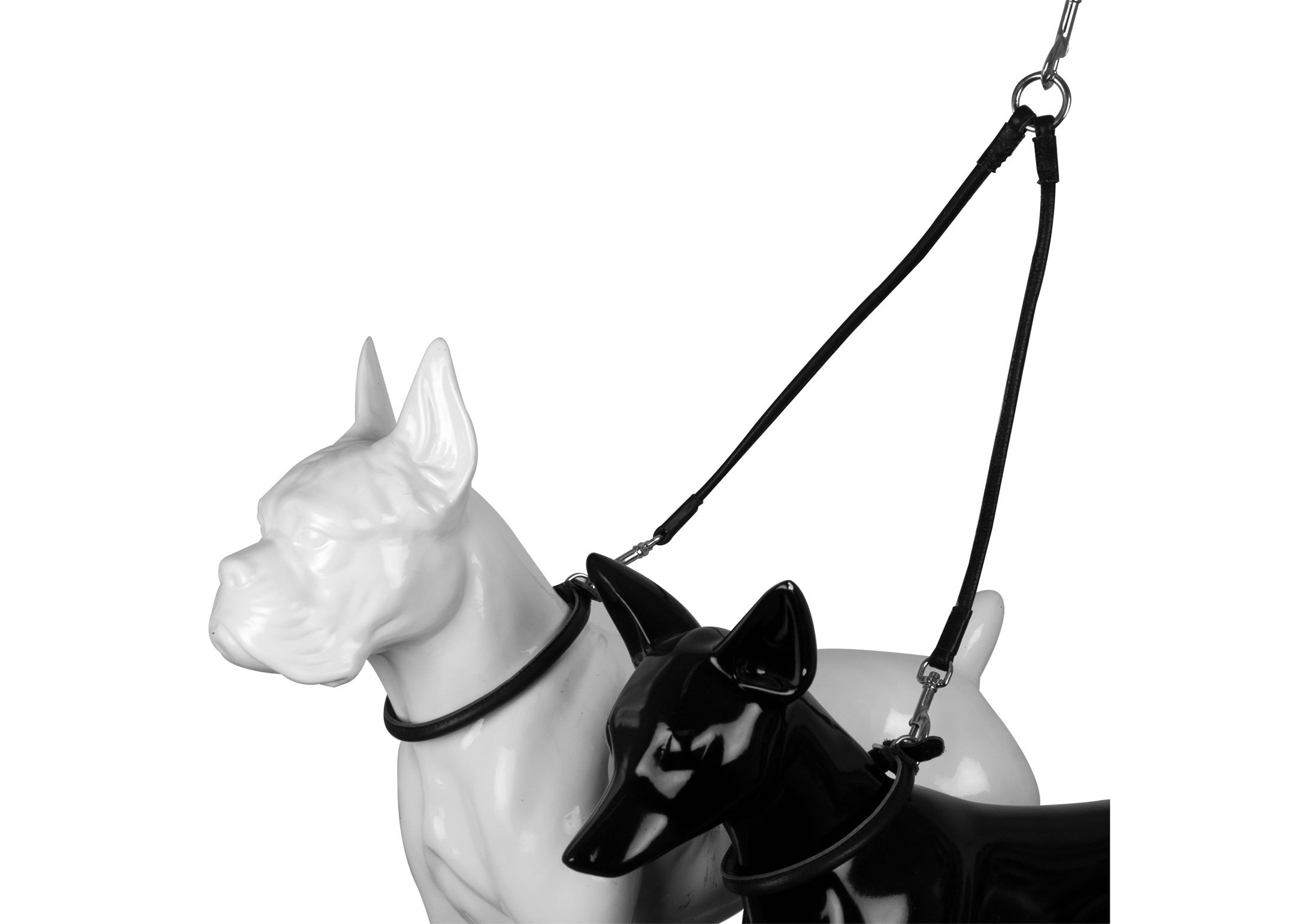 Dapper Dogs Leather Duo Dog Walker 6mm for 2 dogs 33cm Cow Leather Lead