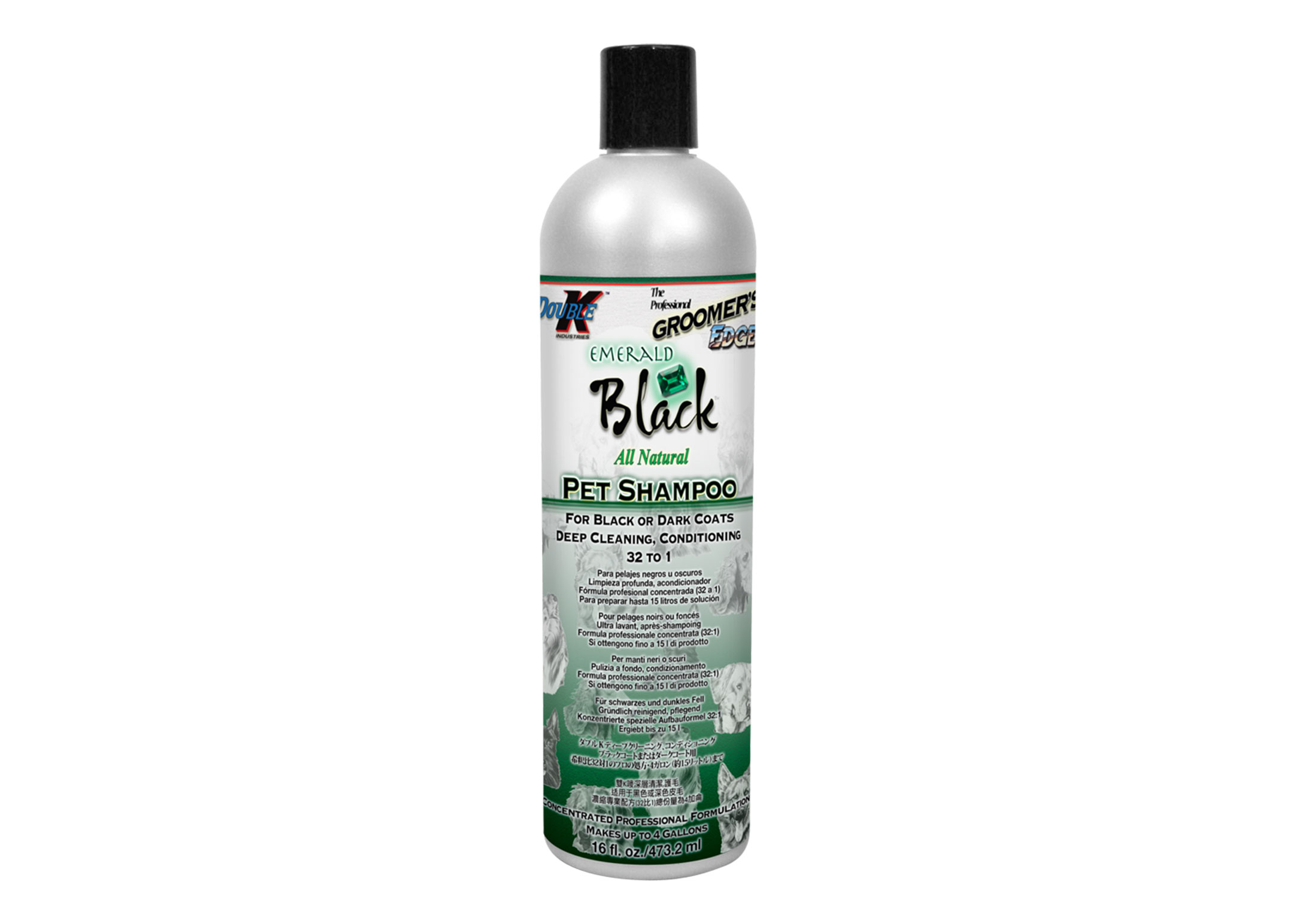 Double K Emerald Black Shampoo For Dogs, Cats And Horses