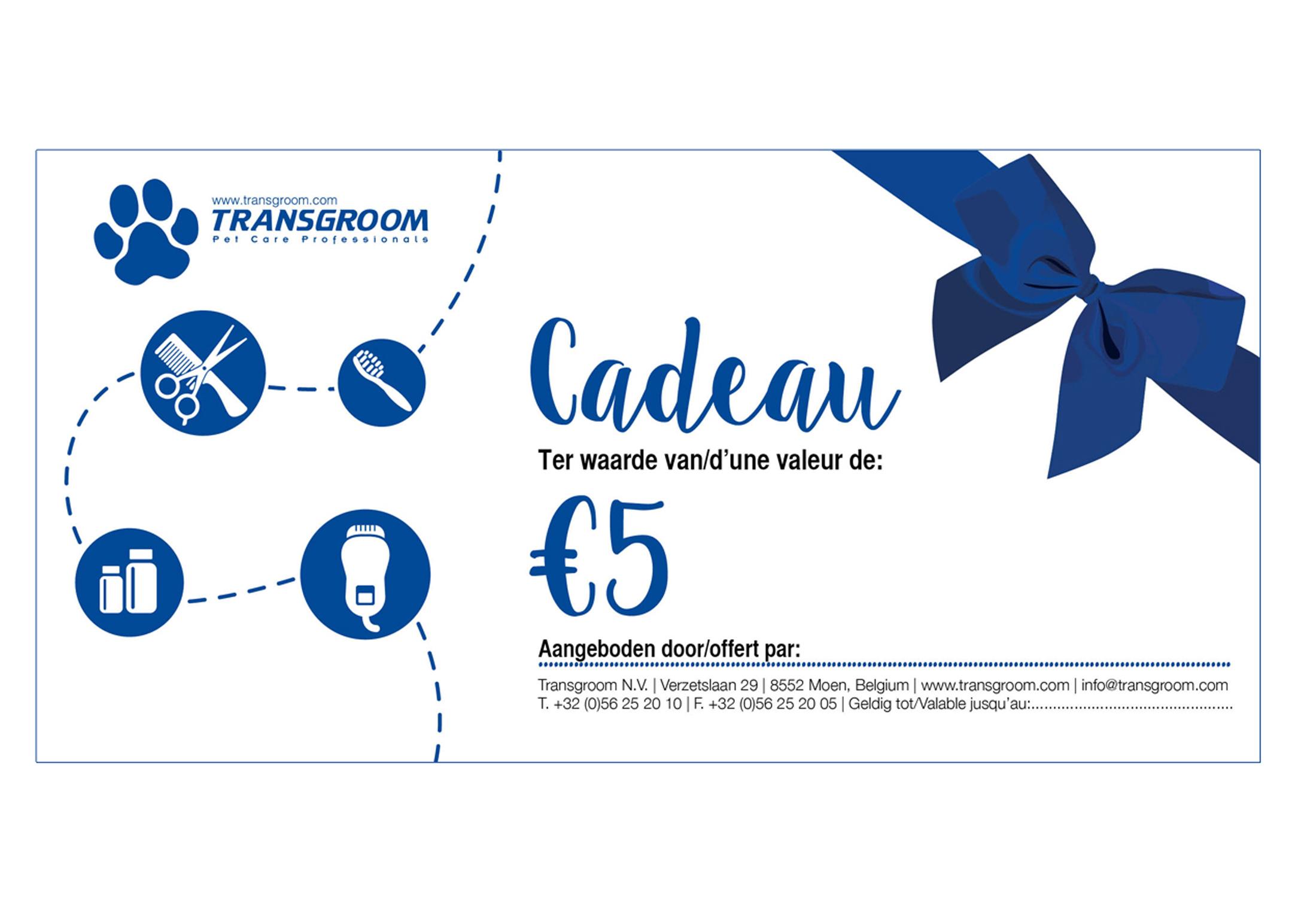 Gift voucher €5