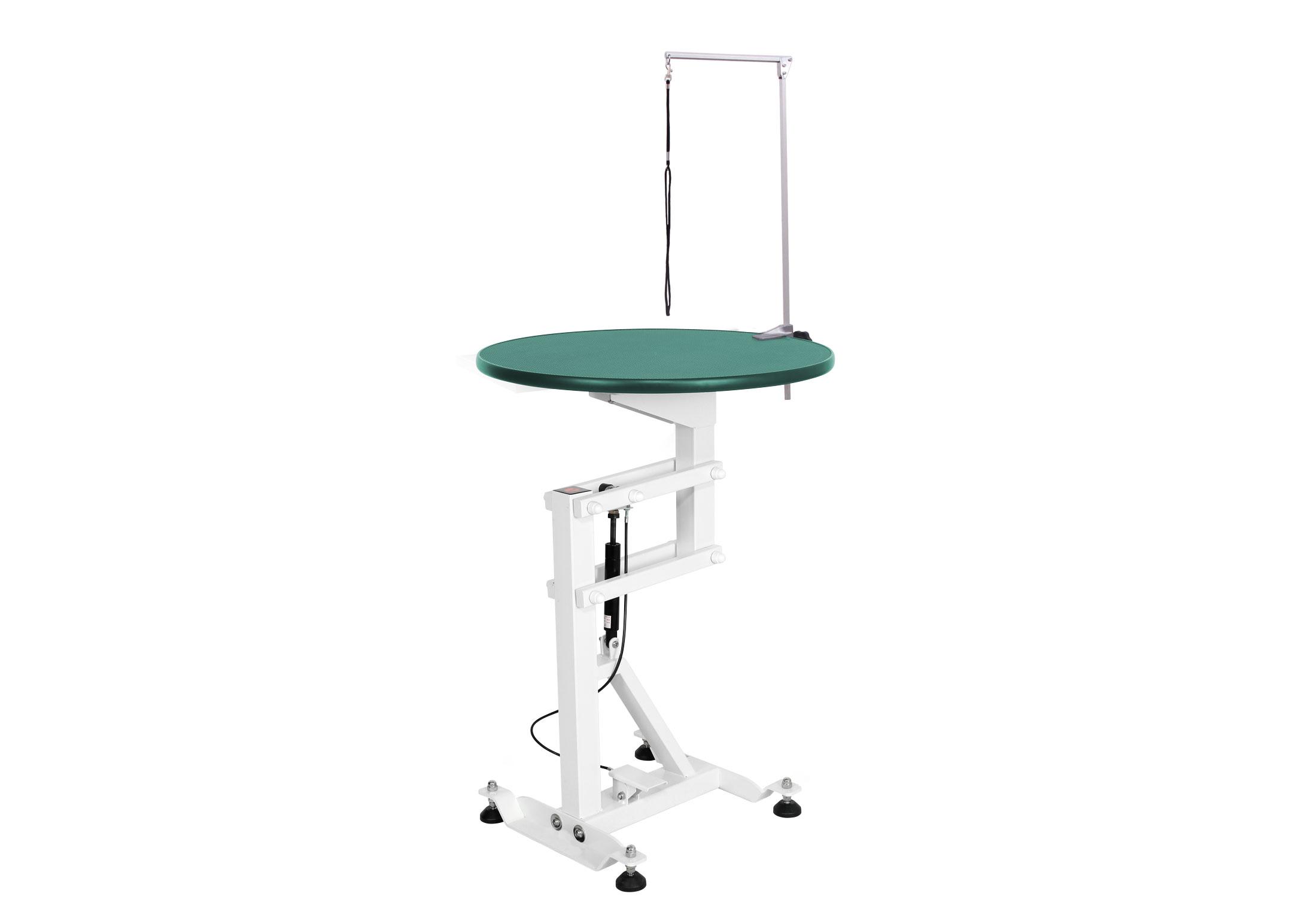 Groom-X Compact Air Lift Table de Toilettage Ronde dia.60x80-120cmh avec Potence