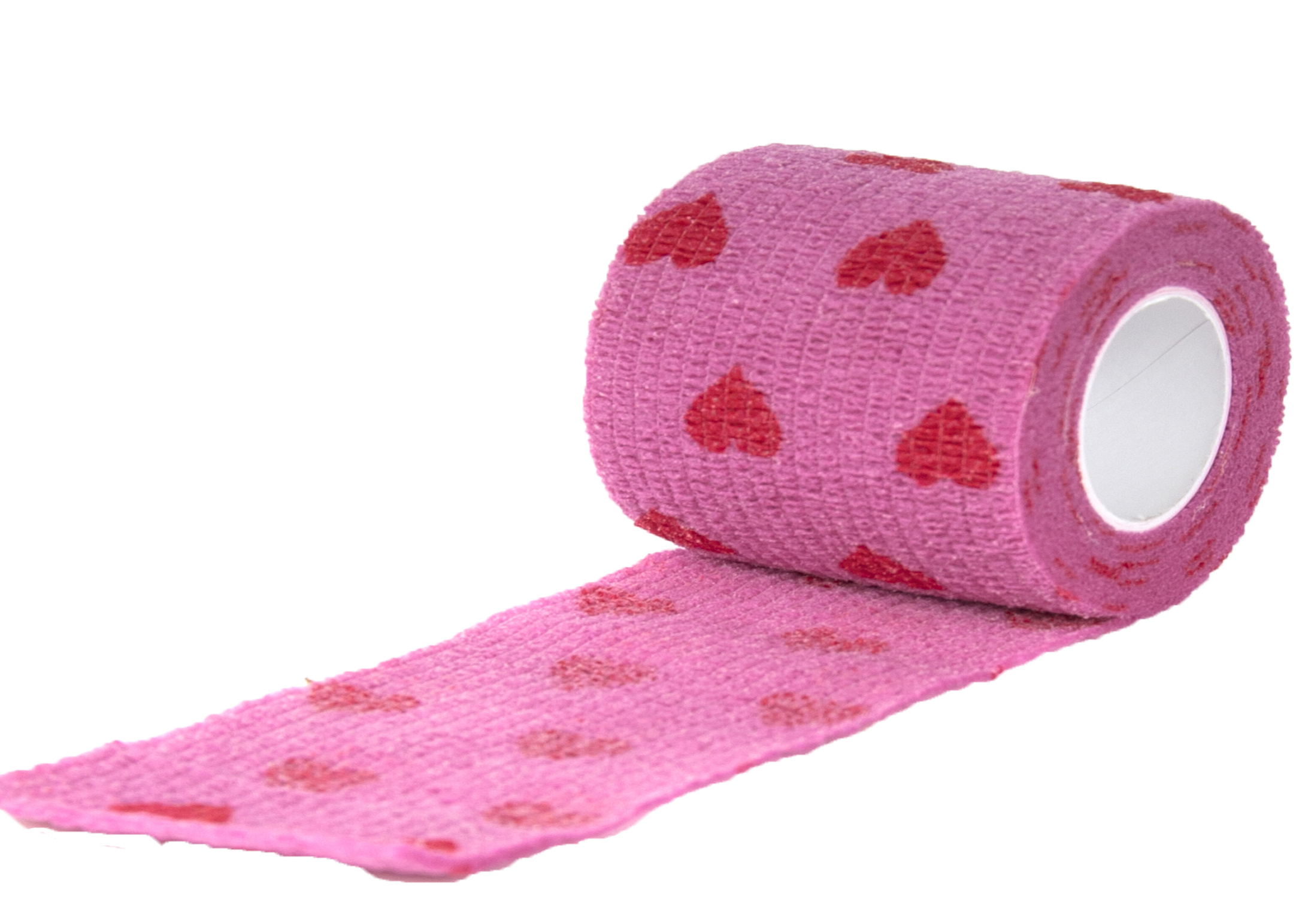 Show Tech Self-Cling Bandage Pink with Hearts 7,5cmx4,5M Bandage