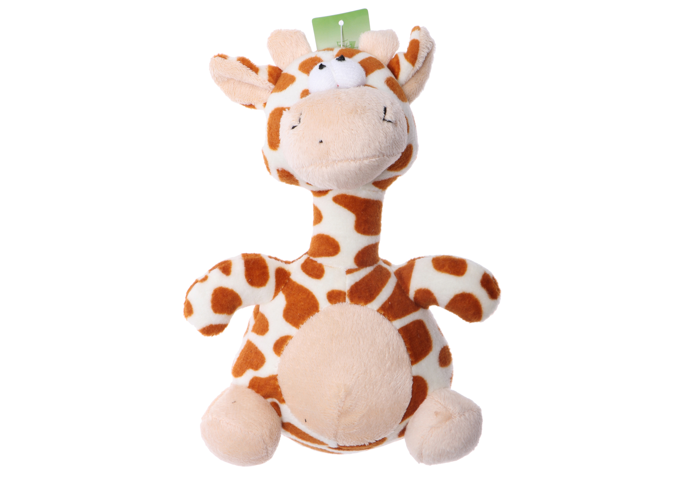 Chuckle City Plush Toy with Squeaker Giraffe 20 cm