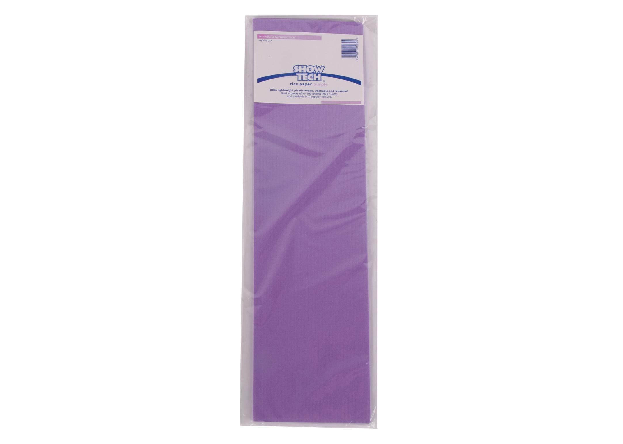 Show Tech Rice Paper Purple 100 pcs Wrapping Paper