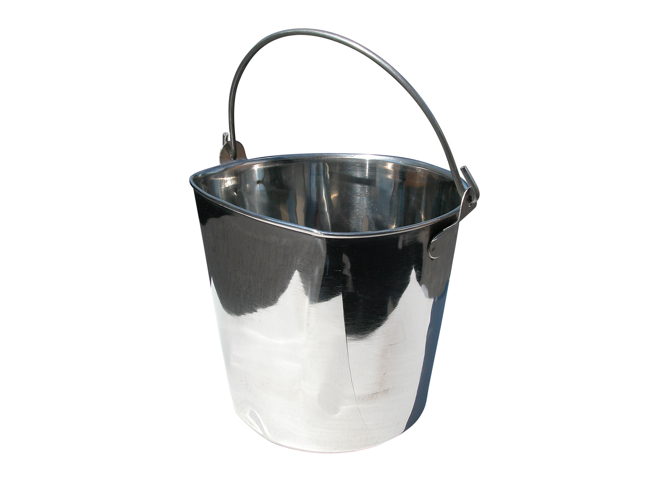 Show Tech Pail with One Flat Side
