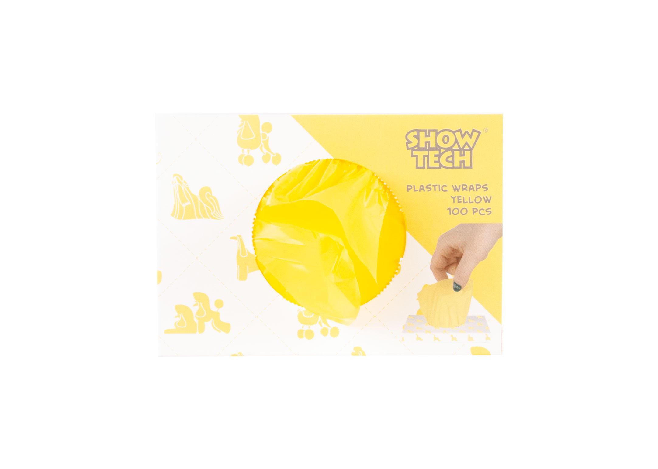 Show Tech Plastic Wraps Yellow (15x30cm)-100 pcs Wraps