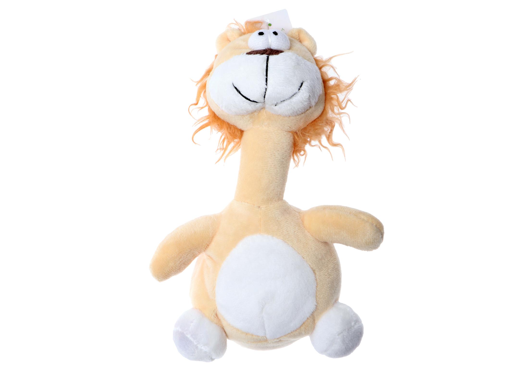 Chuckle City Jouet en Peluche avec Couinement Lion 20 cm