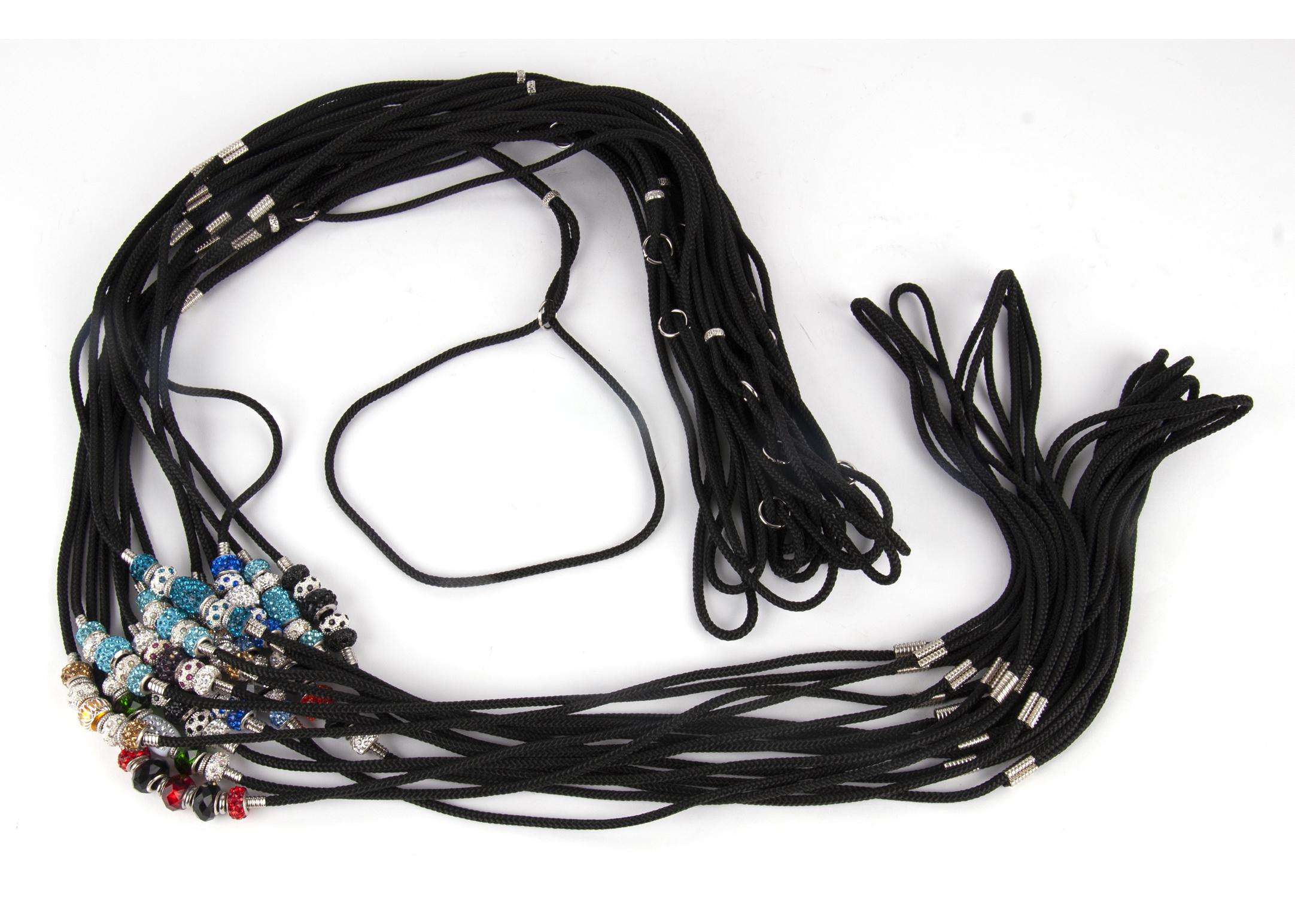 Show Tech Nylon Laisse D'expo 70cm avec Perles Swarovski Couleurs Mixtes (max diam. 40cm)