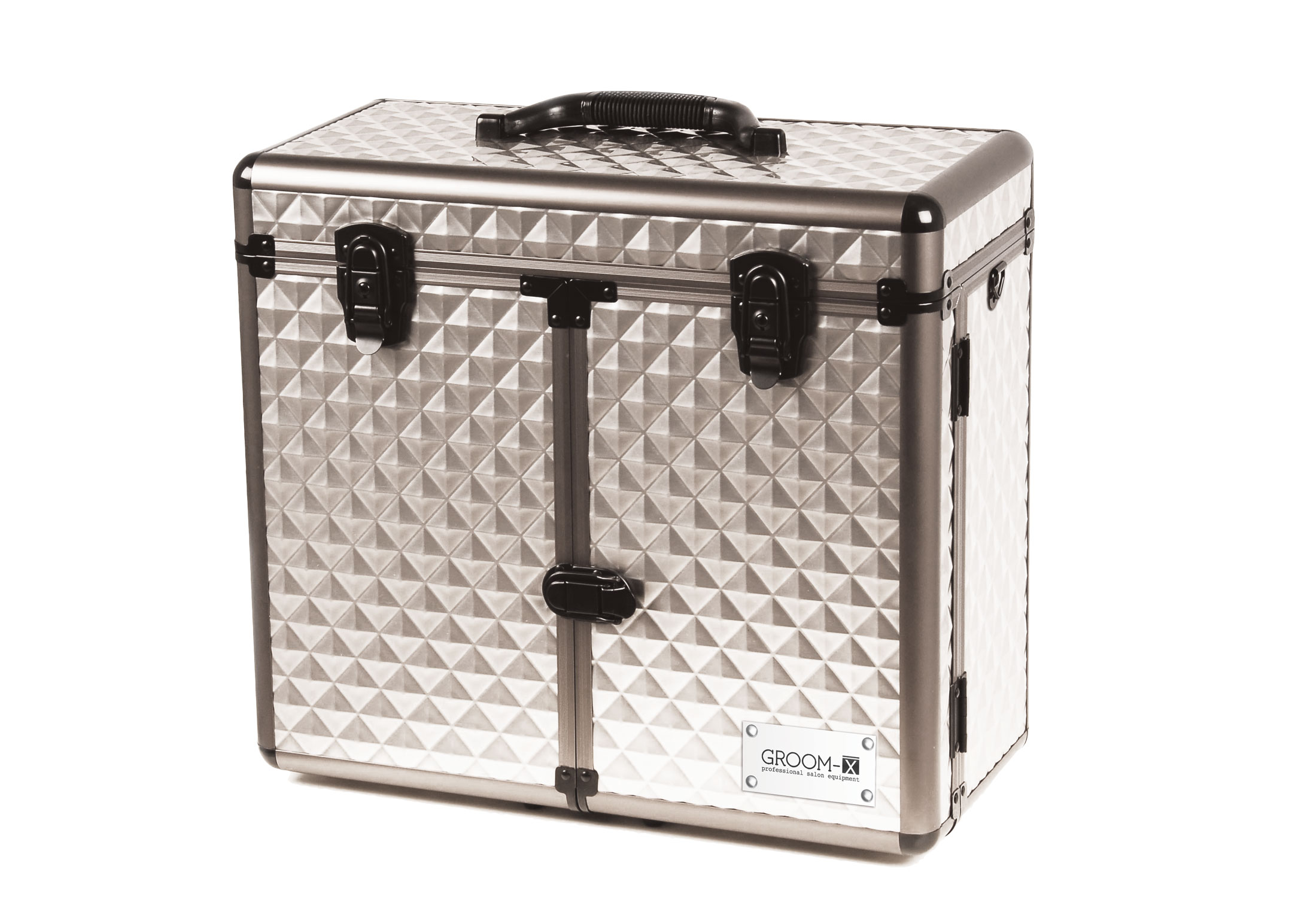 Groom-X Grooming Case Deluxe Portable with Diamond ABS Panel