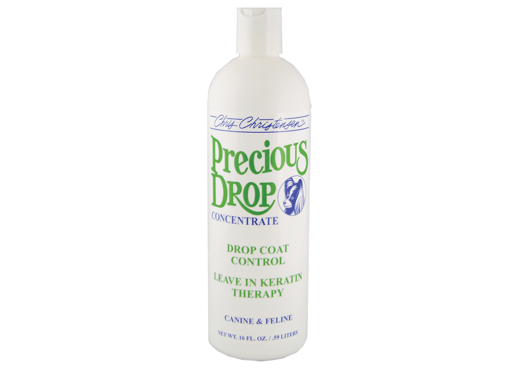 Chris Christensen Systems Precious Drops Concentrate Drop Coat Control Pour Chiens, Chats et Chevaux