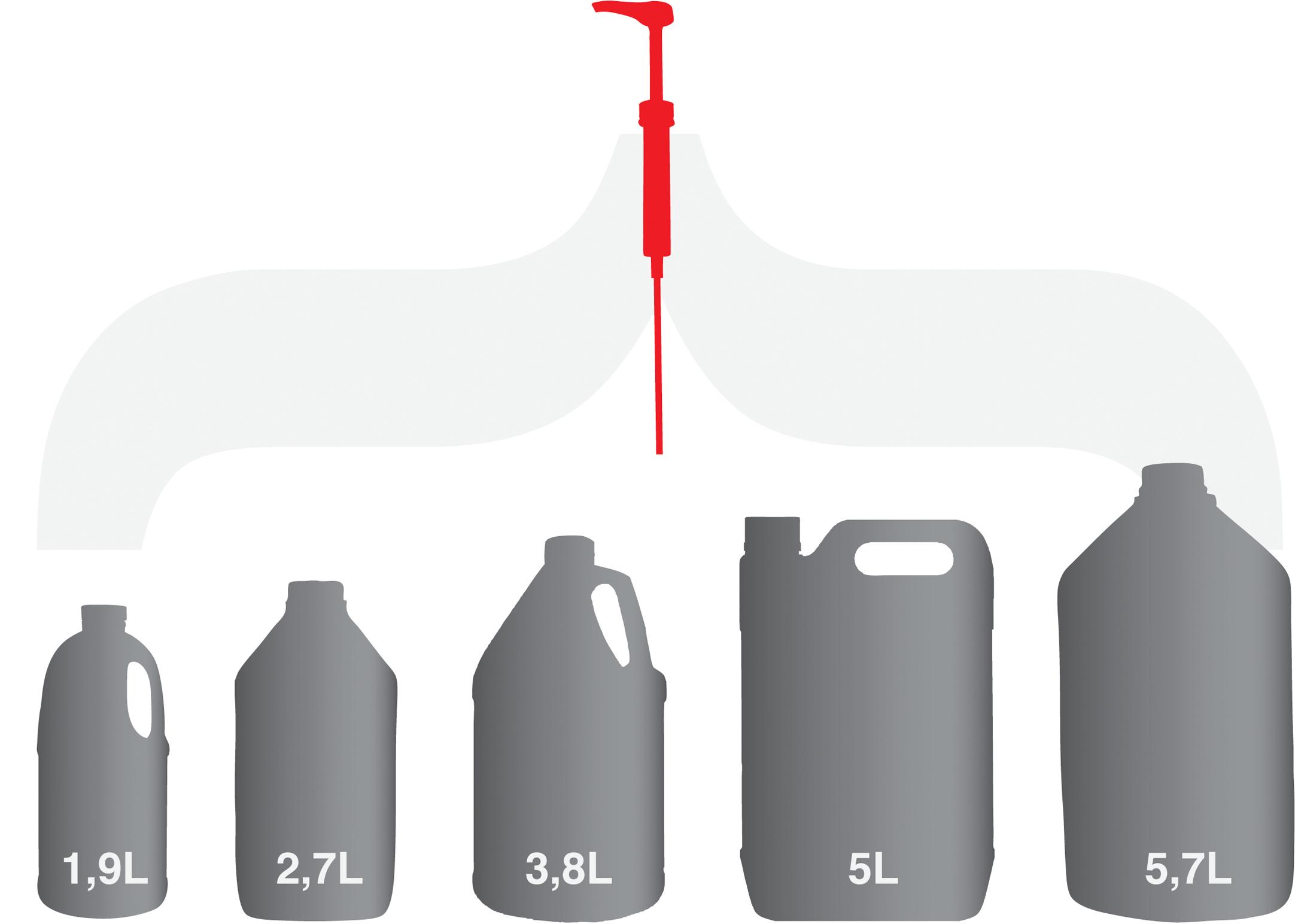Show Tech Pump Universal for US Gallon - 5 L Bidon Pump