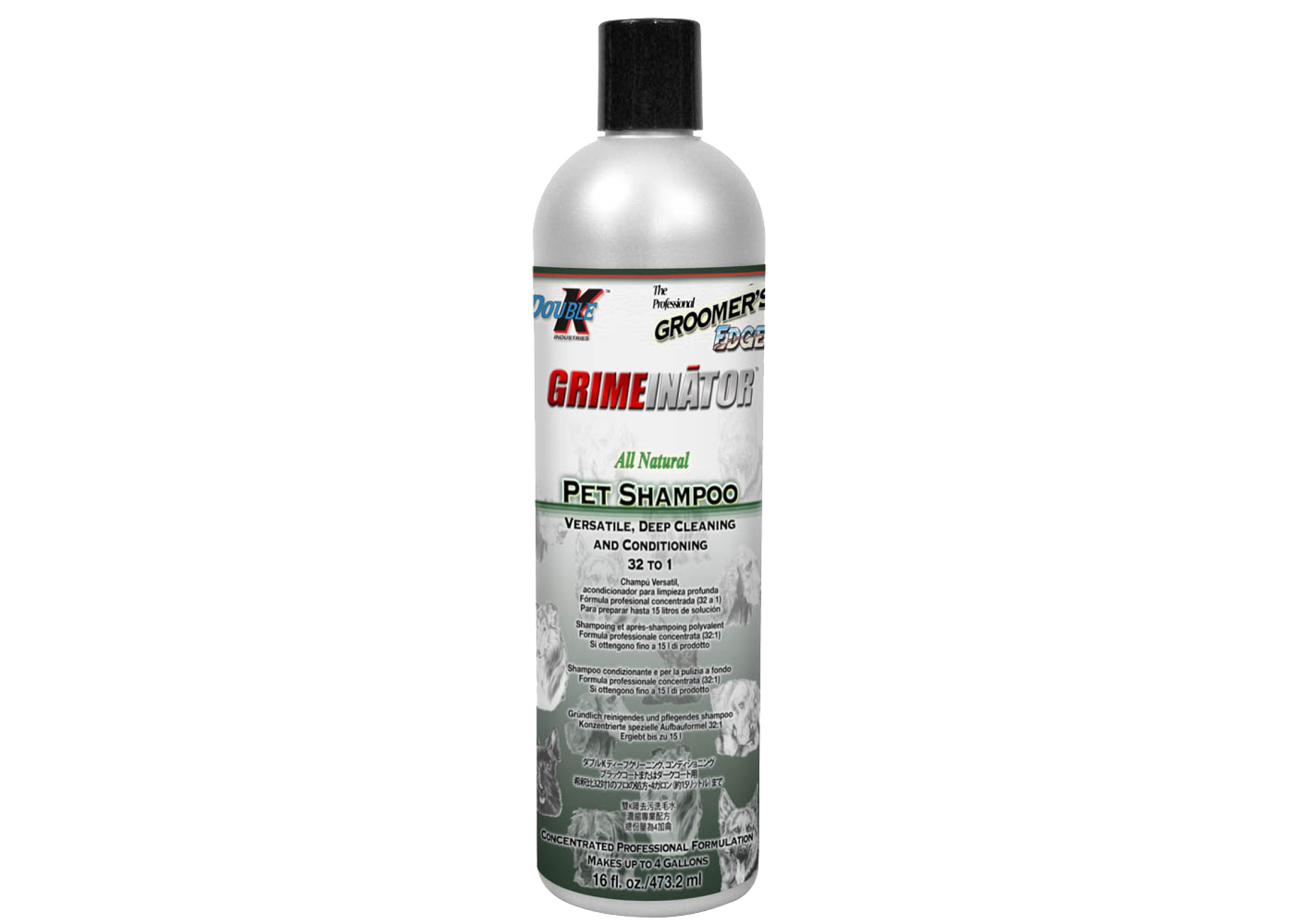 Double K Grimeinator Shampoo For Dogs, Cats And Horses
