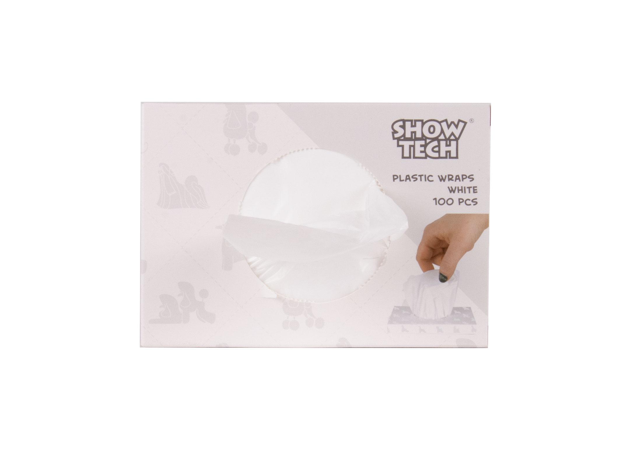 Show Tech Plastic Wraps White (15x30cm)-100 pcs Wraps