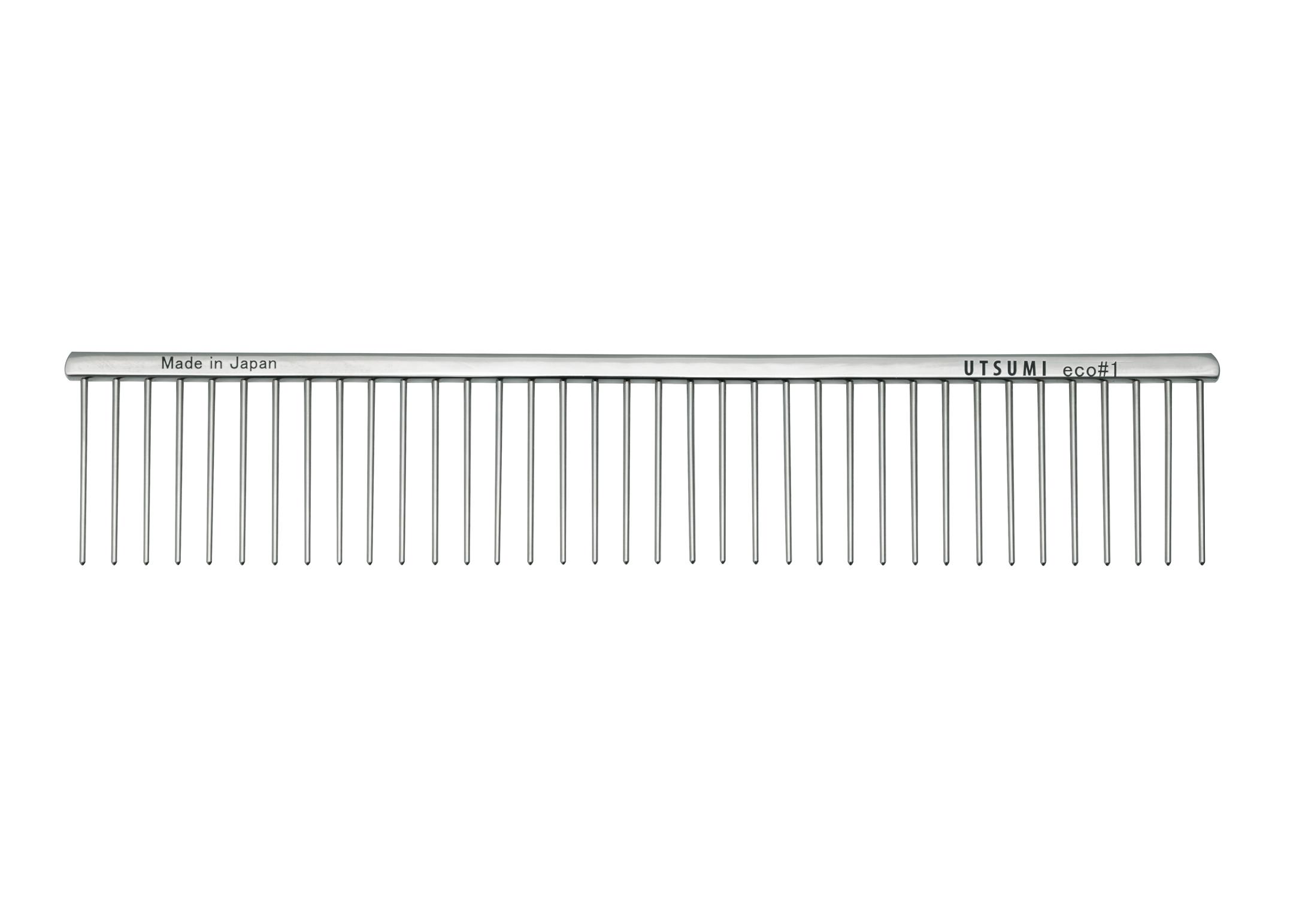 Utsumi Eco#1 Peigne Argent 25cm 4cm longueur des Dents Peigne