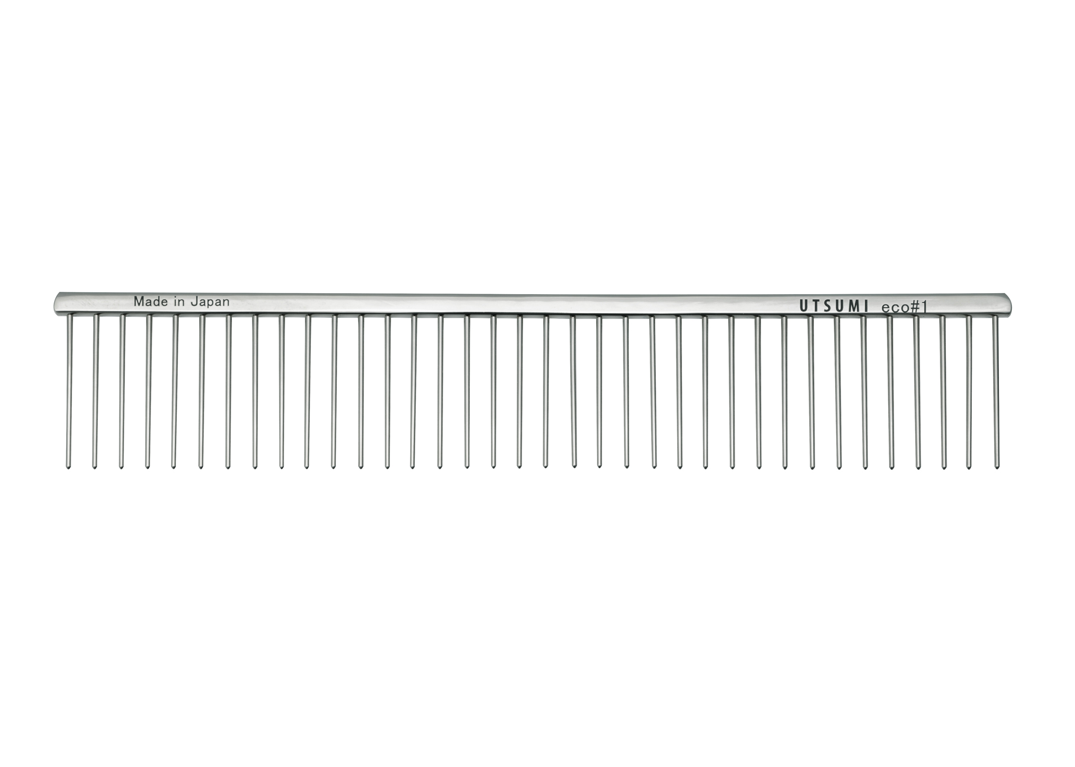 Utsumi Eco#1 Kam Zilver 25cm 4cm lange Tanden Kam
