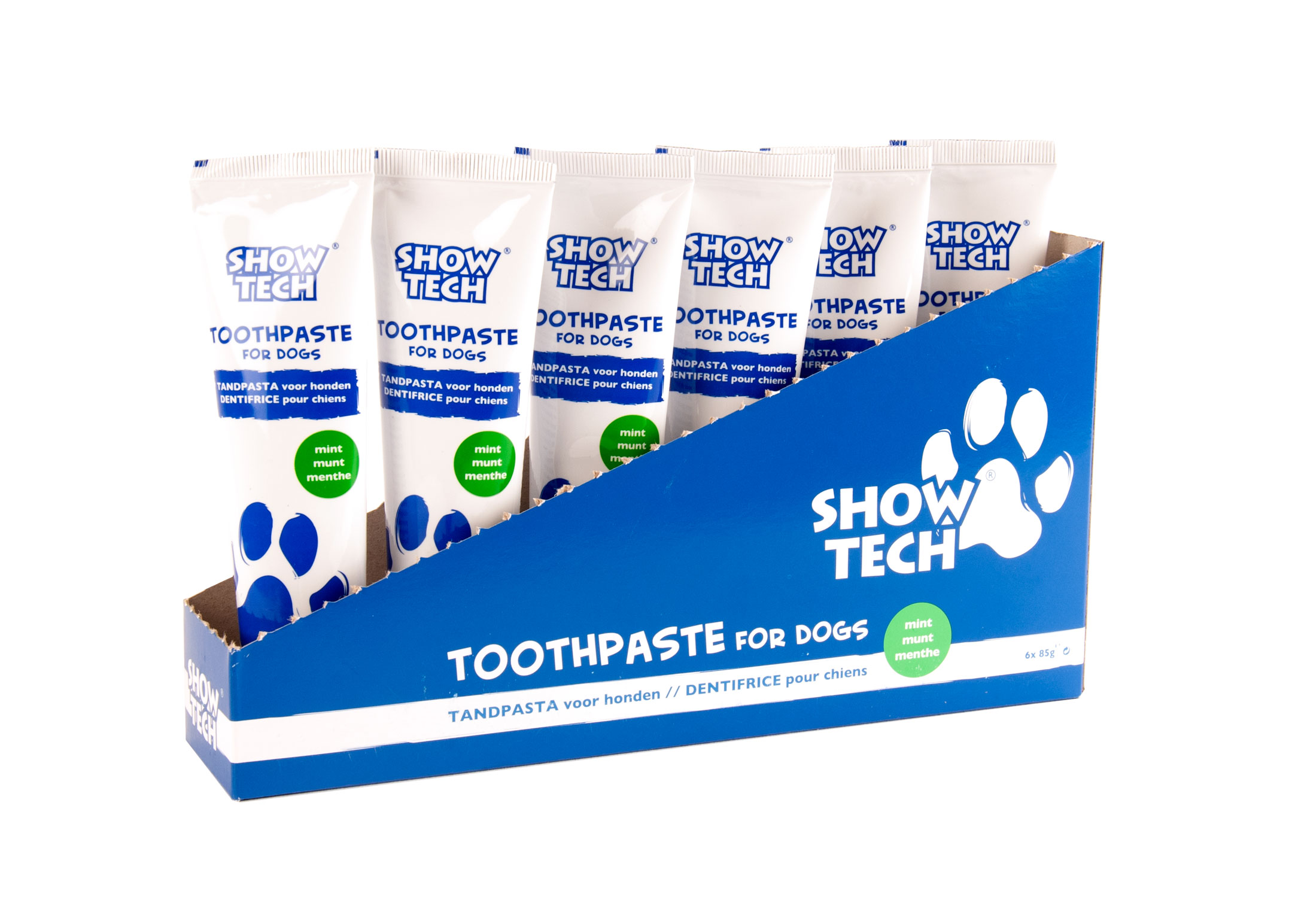 Show Tech Display Toothpaste 6x85gr Mint Teeth Cleaning Product