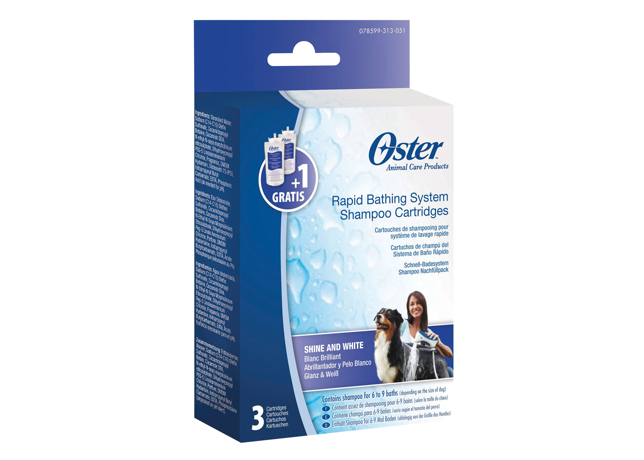 Oster Ultra Shine & White Shamp Cart.3p*