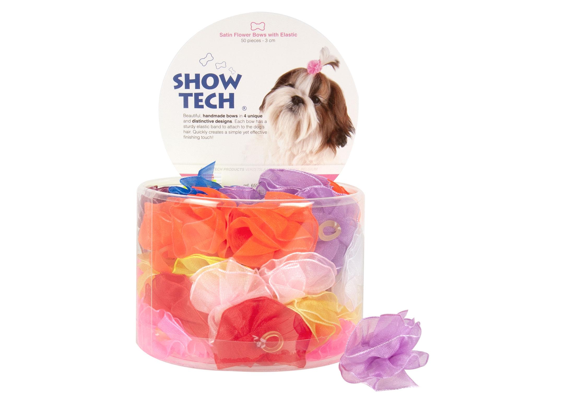 Show Tech Satin Flower Noeuds avec Elastique 50 pièces Noeuds