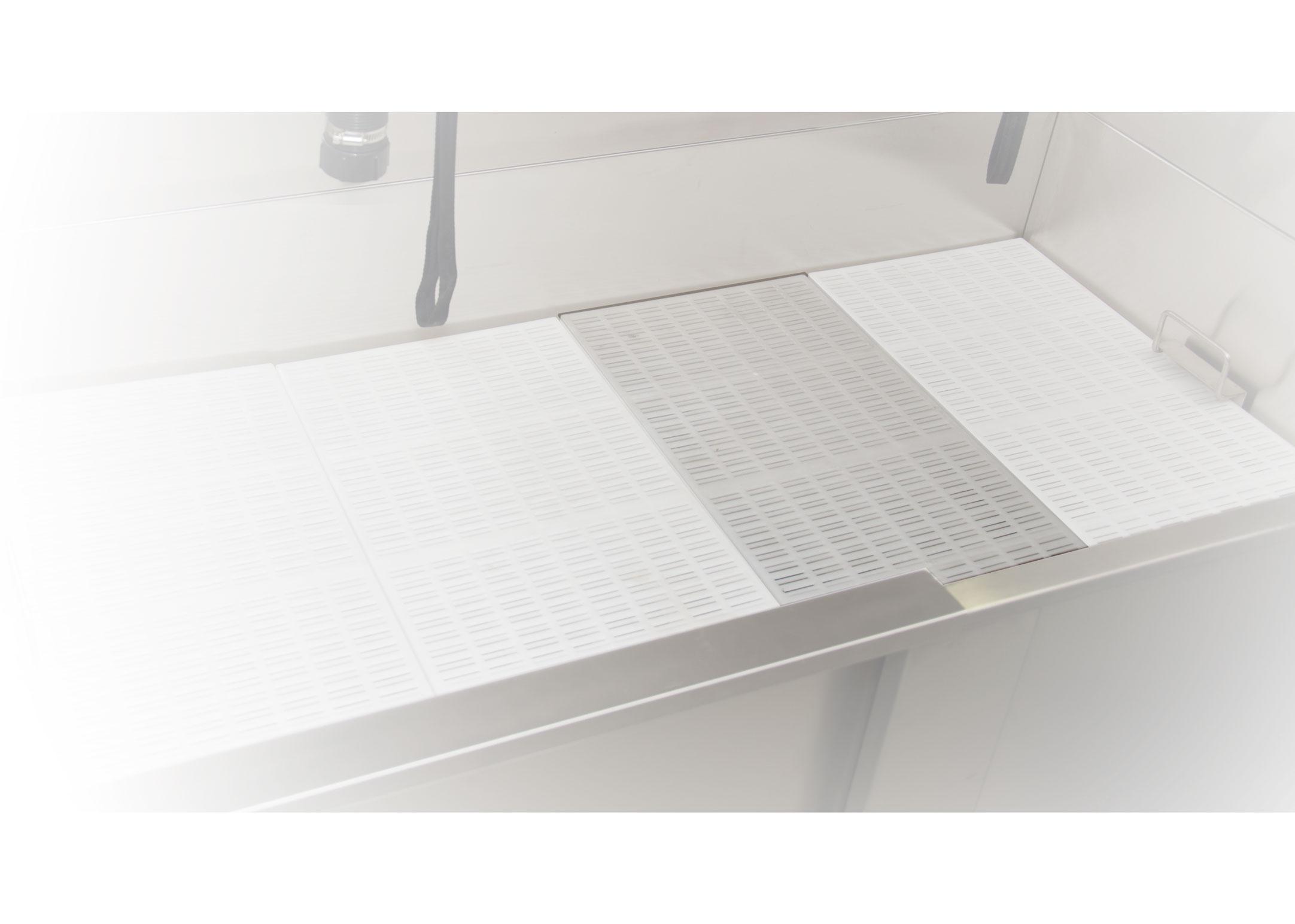 Groom-X Grille de bain PVC 30cm x 60cm Accessoires de baignoire