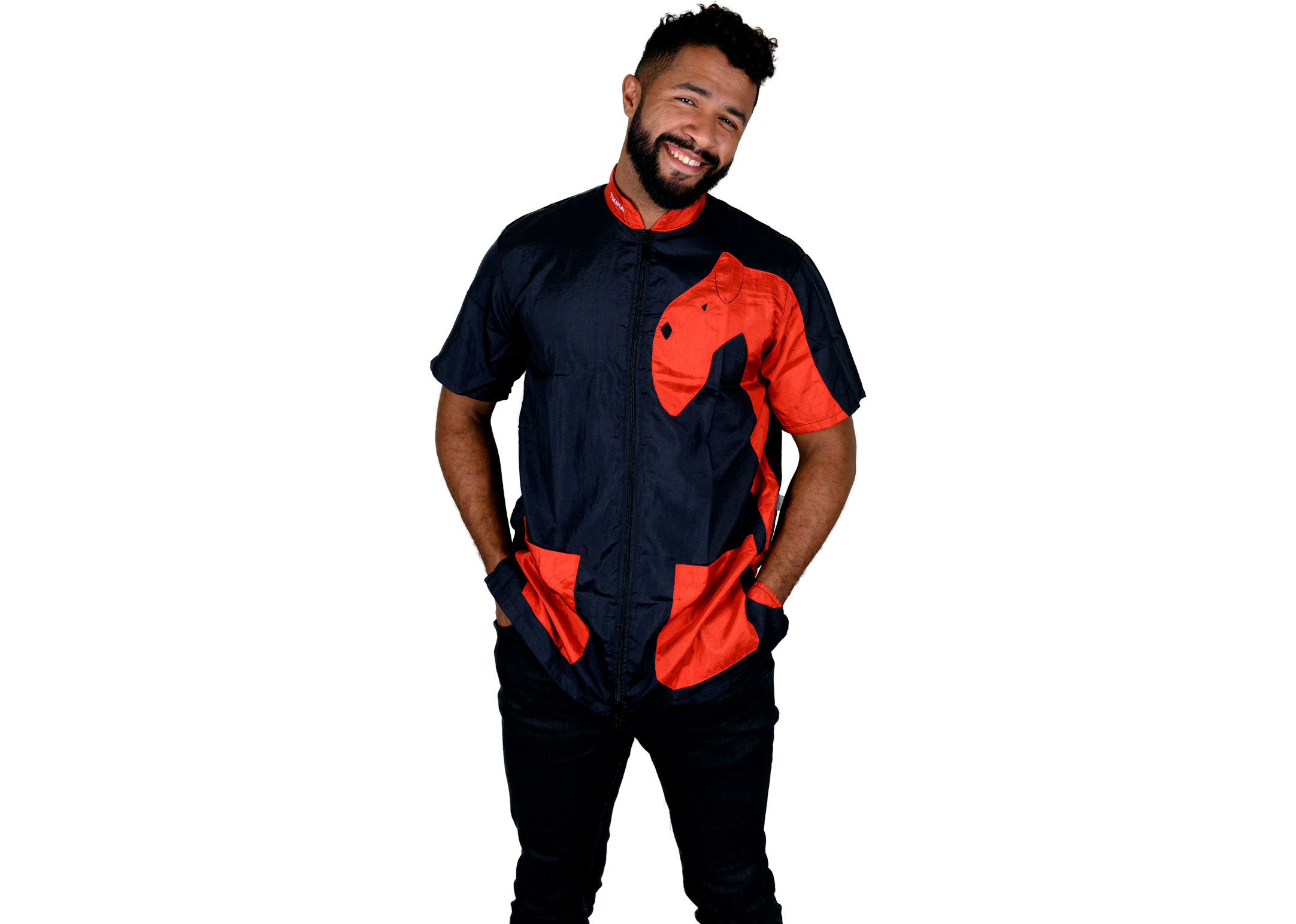 Tikima Vico Cani Shirt S Black/turquoise