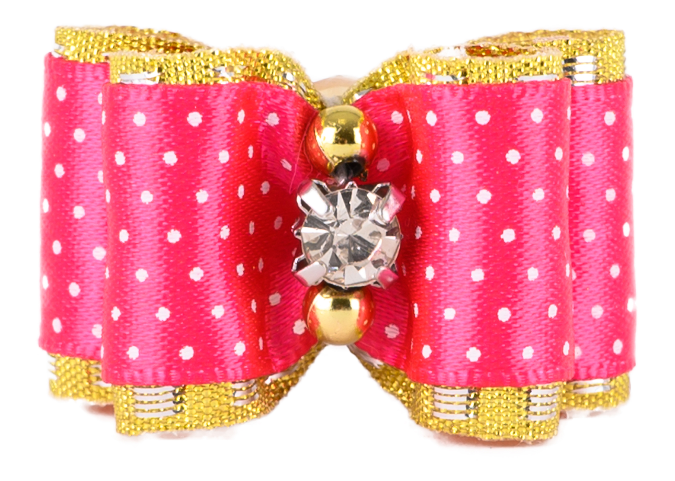 Show Tech Fancy Polka Dot Bows with Elastic 50 pcs Bows