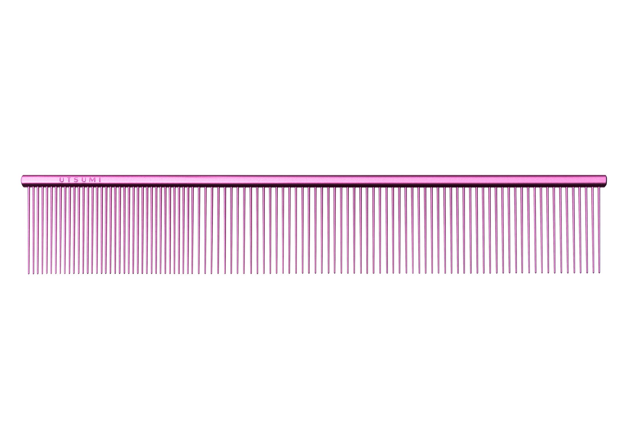 Utsumi U&U Wide Quarter Comb Pink 23cm Comb