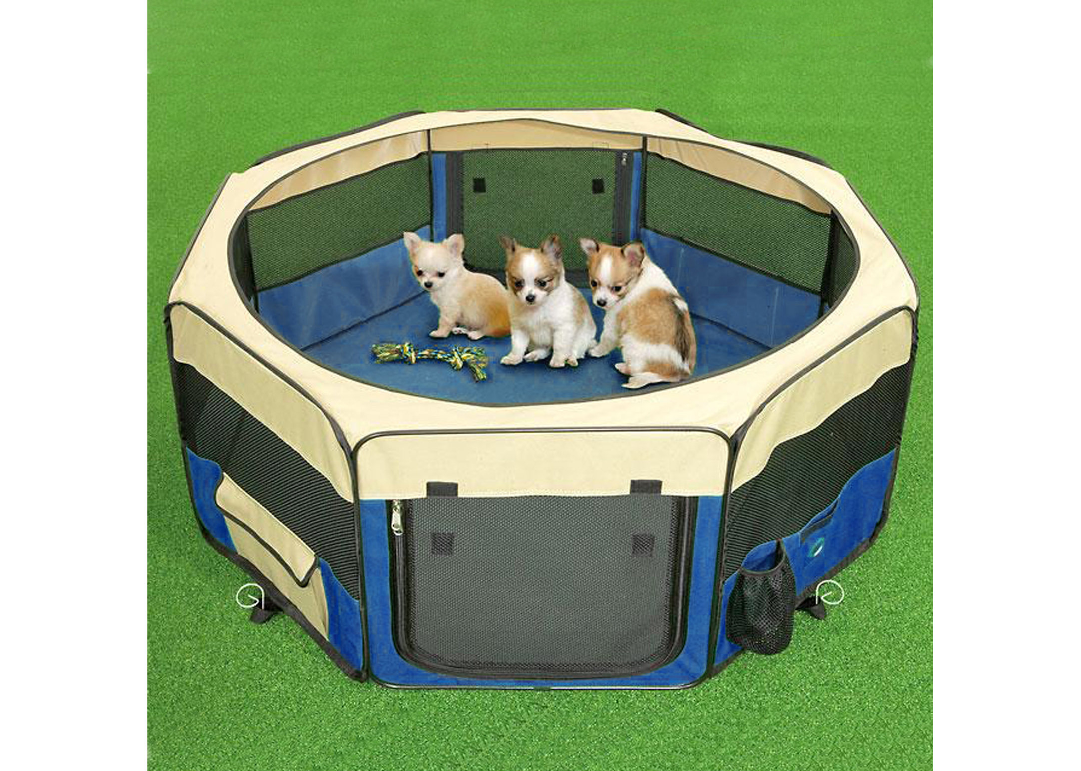 Show Tech Pet Play Park Blue - 8x37cmBx37cmH Pen For Puppies