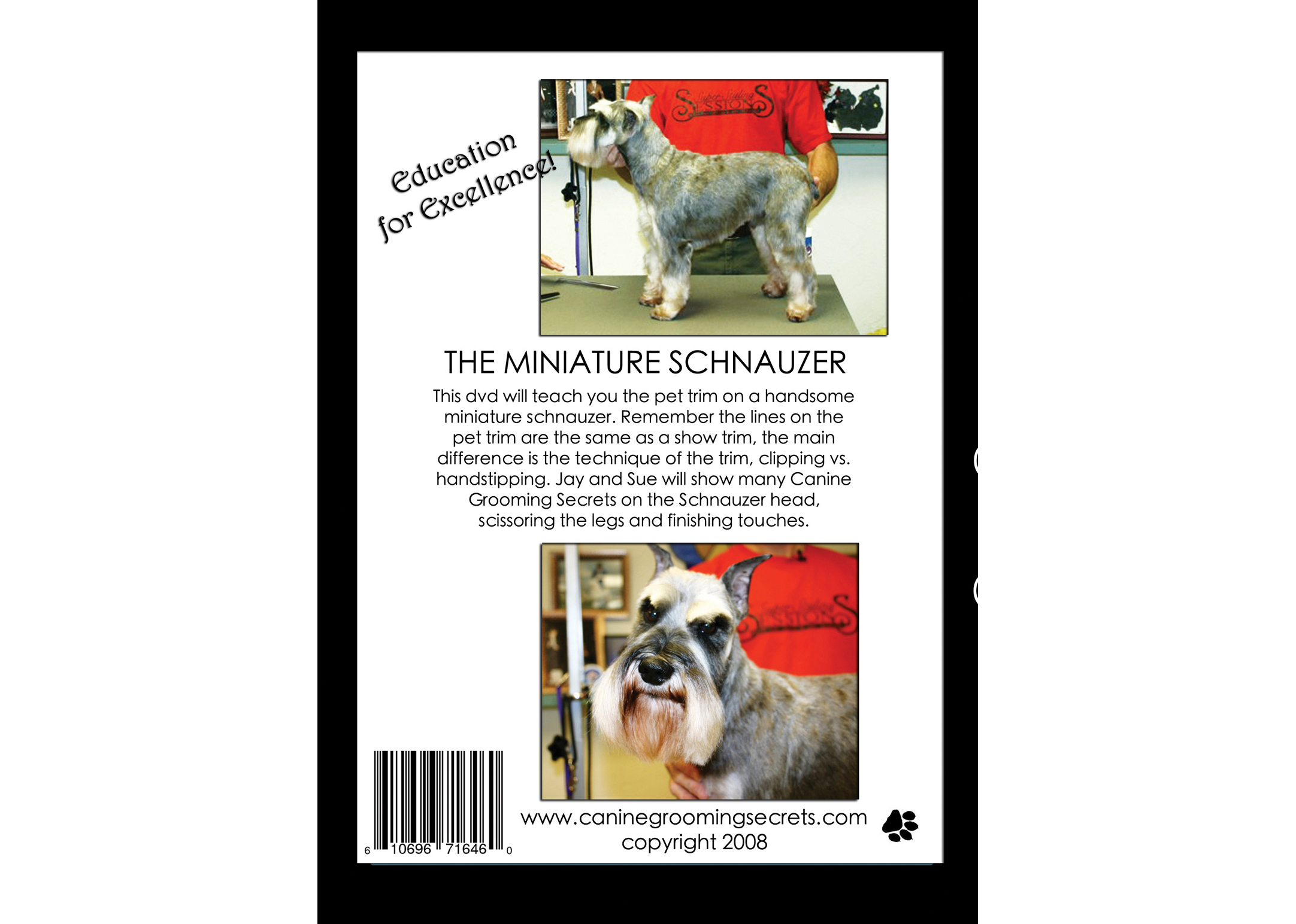 Super Styling Sessions DVD Super Styling Sessions Miniature Schnauzer Educational DVD