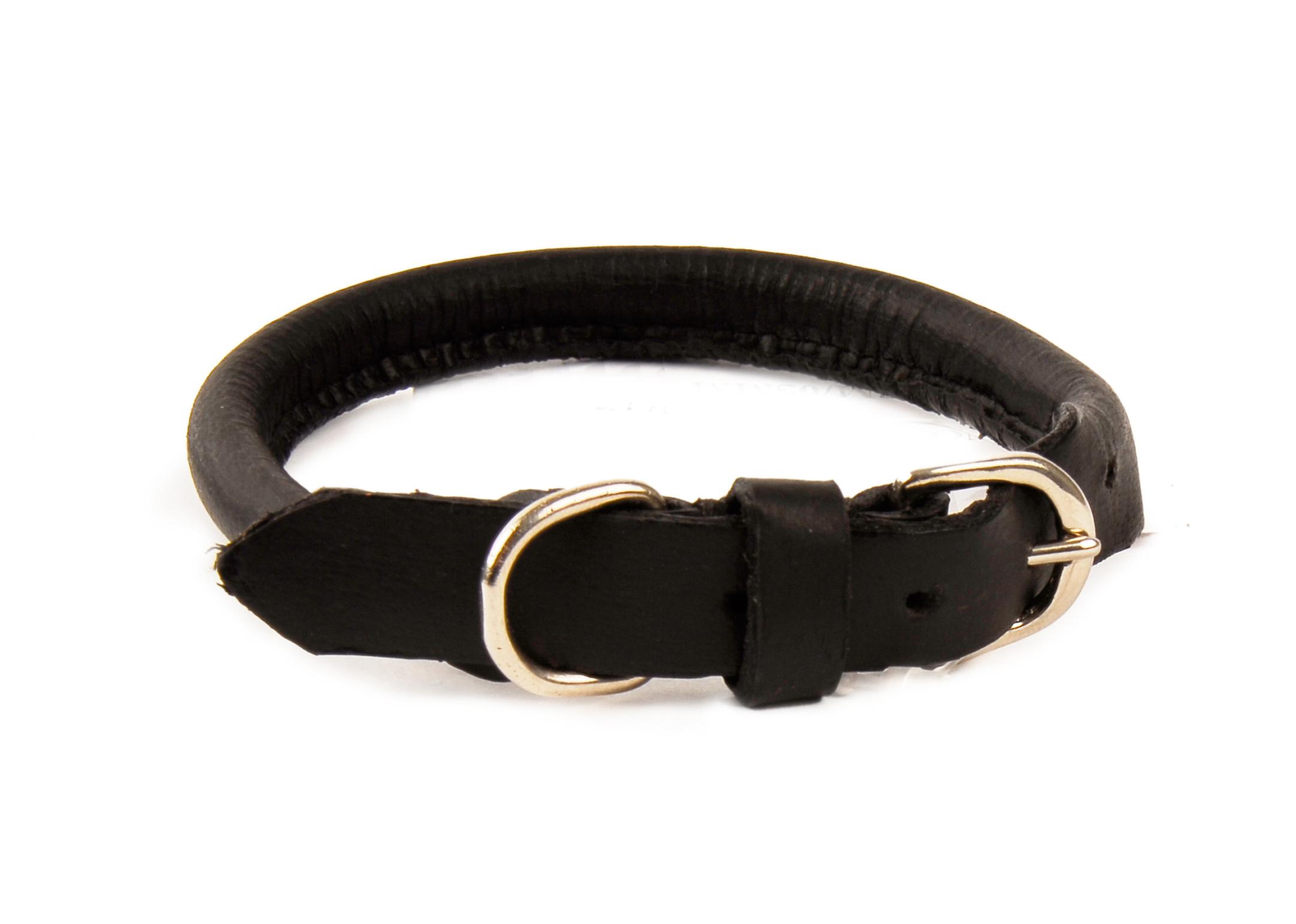 Dapper Dogs Lederen Halsband Rond Voor Honden