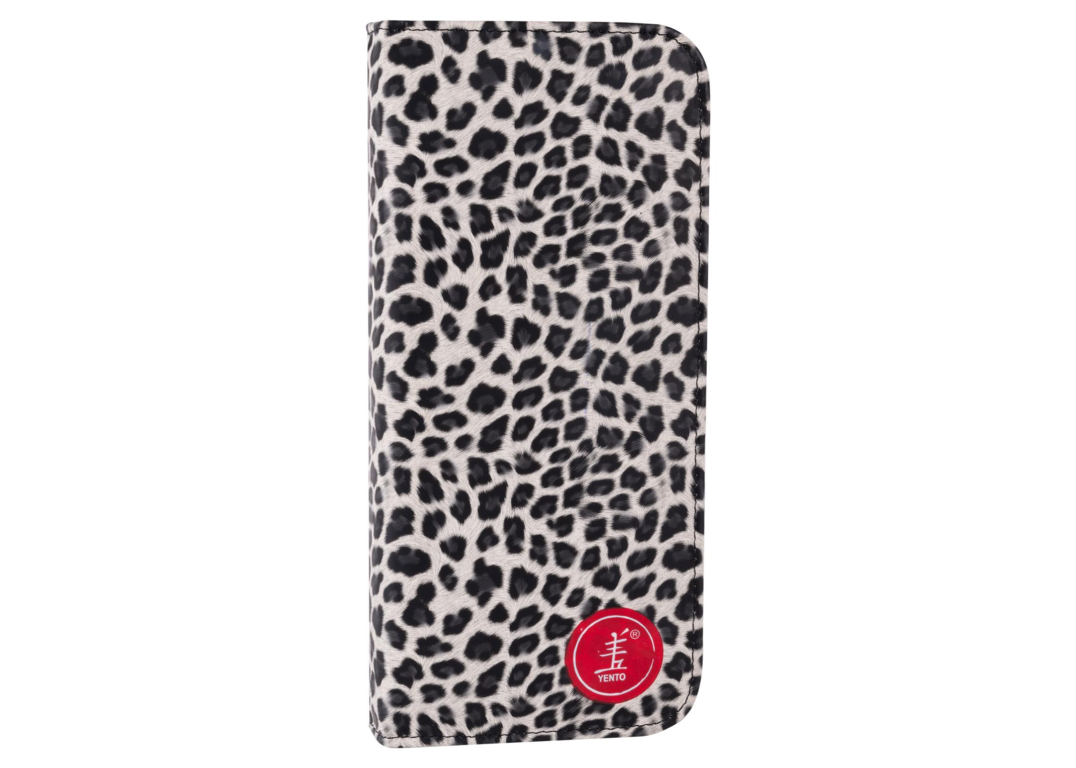 Yento Scissor Shear Pouch Leopard print - 12 scissors - 28x12,5cm